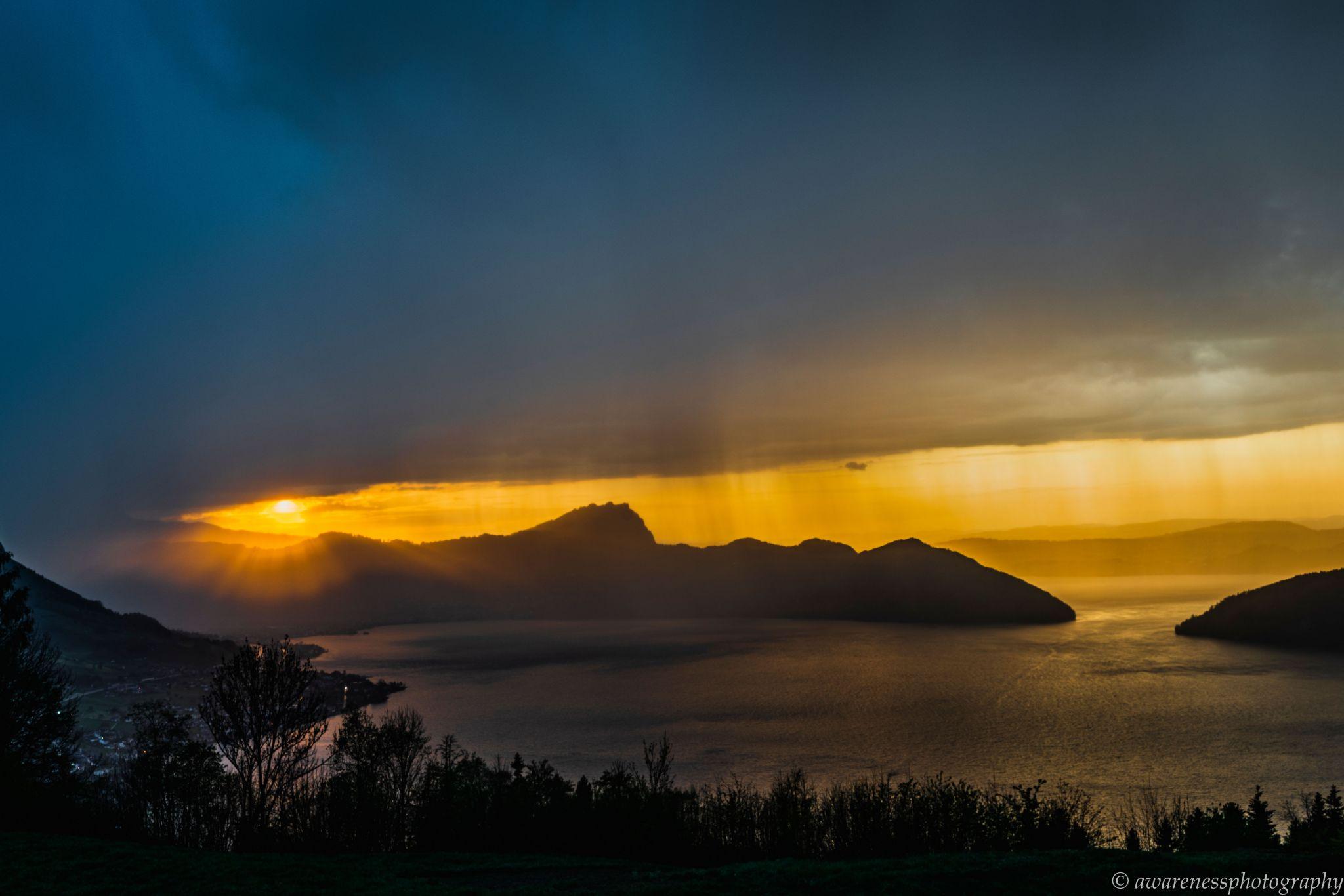 Storm over Lake Lucerne, Switzerland