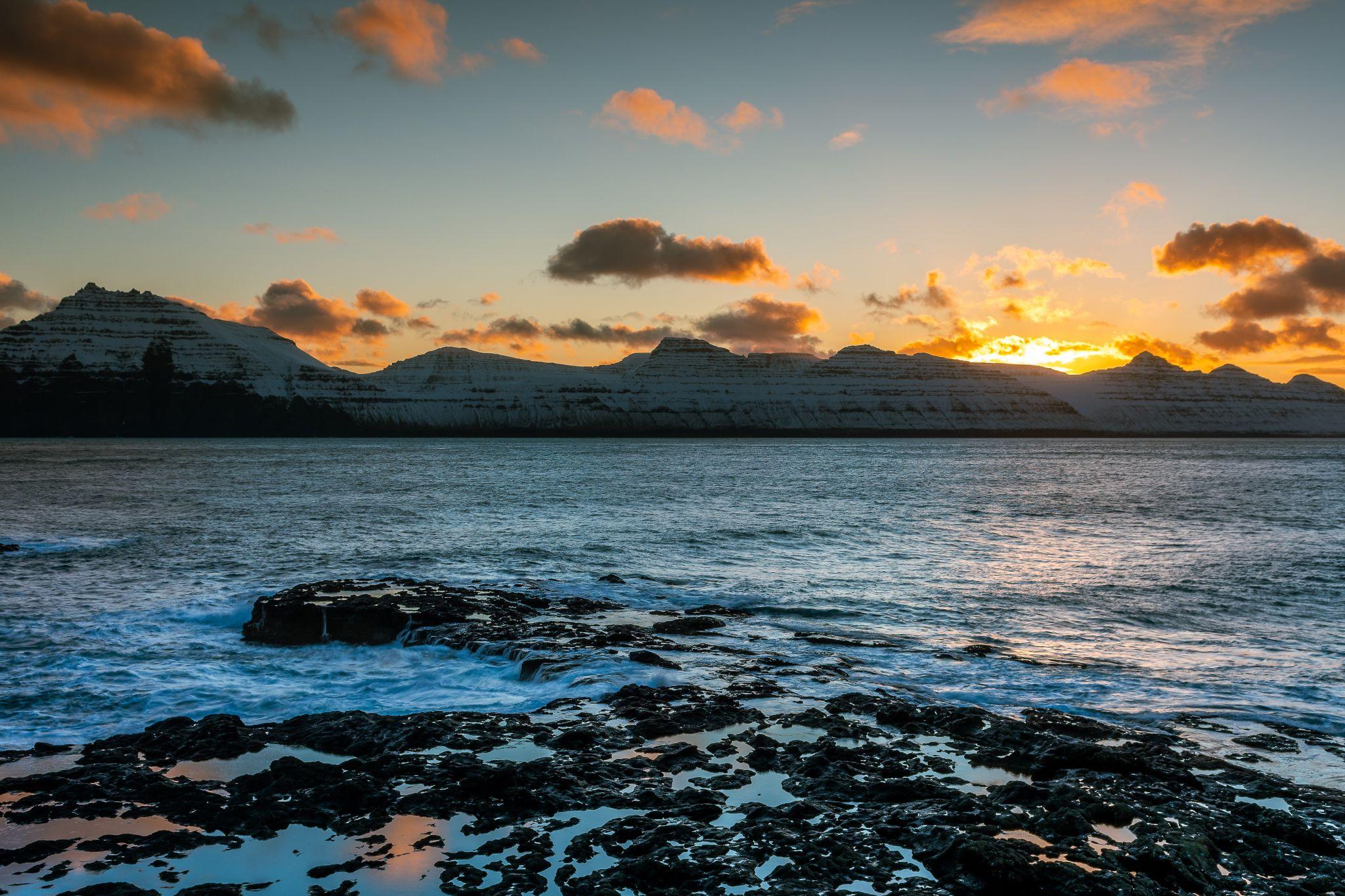 Sunset Gjògv, Faroe Islands