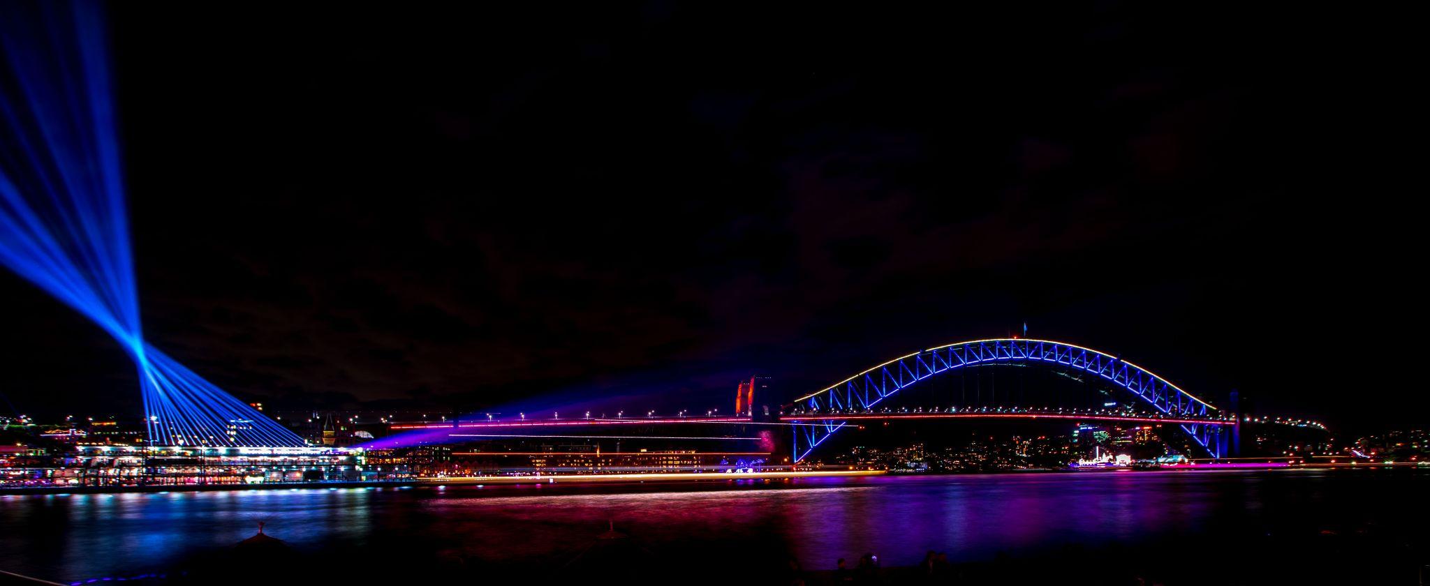 Sydney Harbour Bridge Vivid festival, Australia