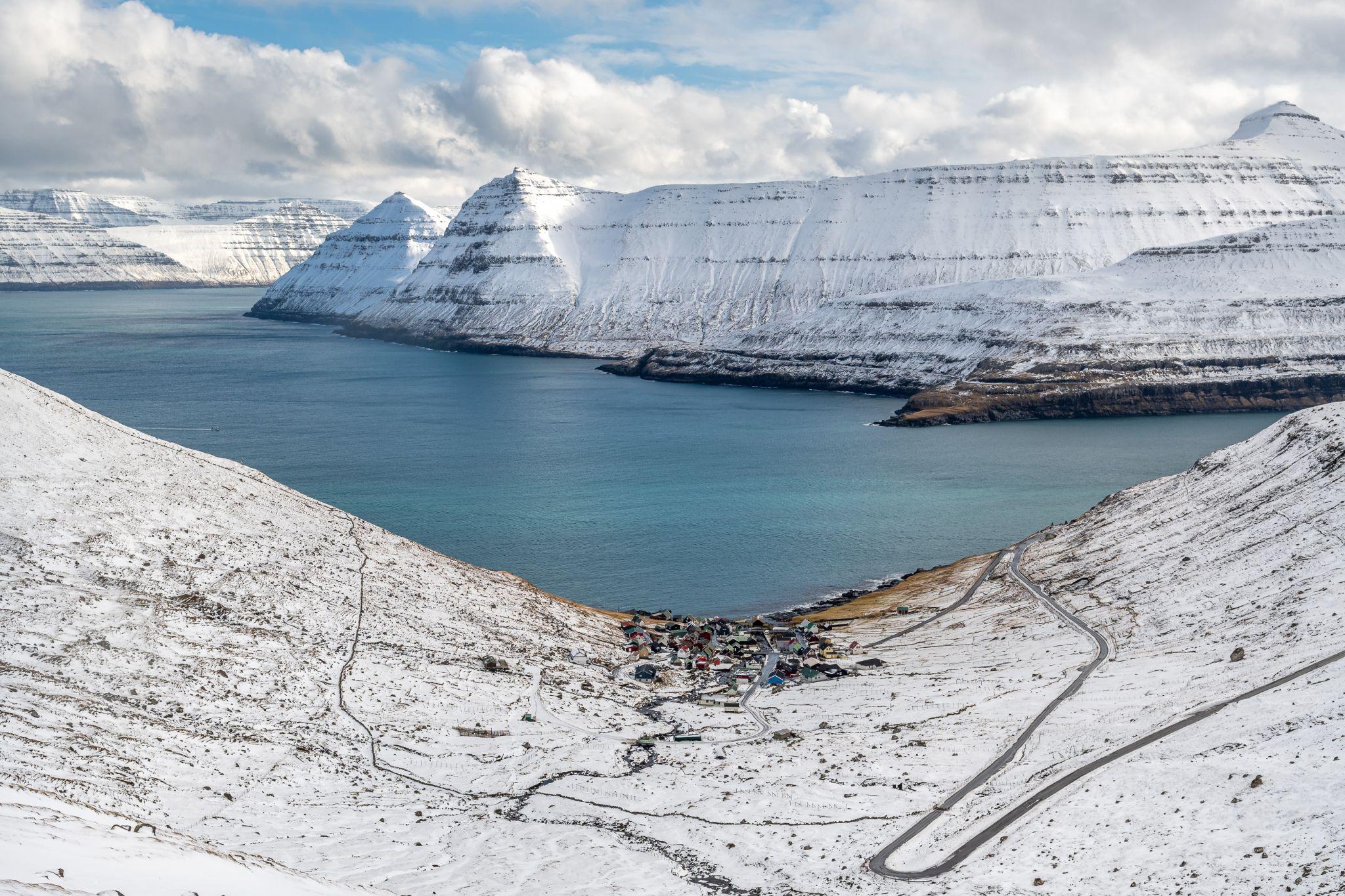 The Funningur panoramicview, Faroe Islands