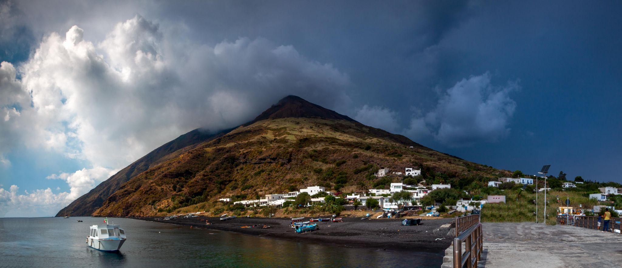 The Island of Stromboli, Aeolian Islands, Italy