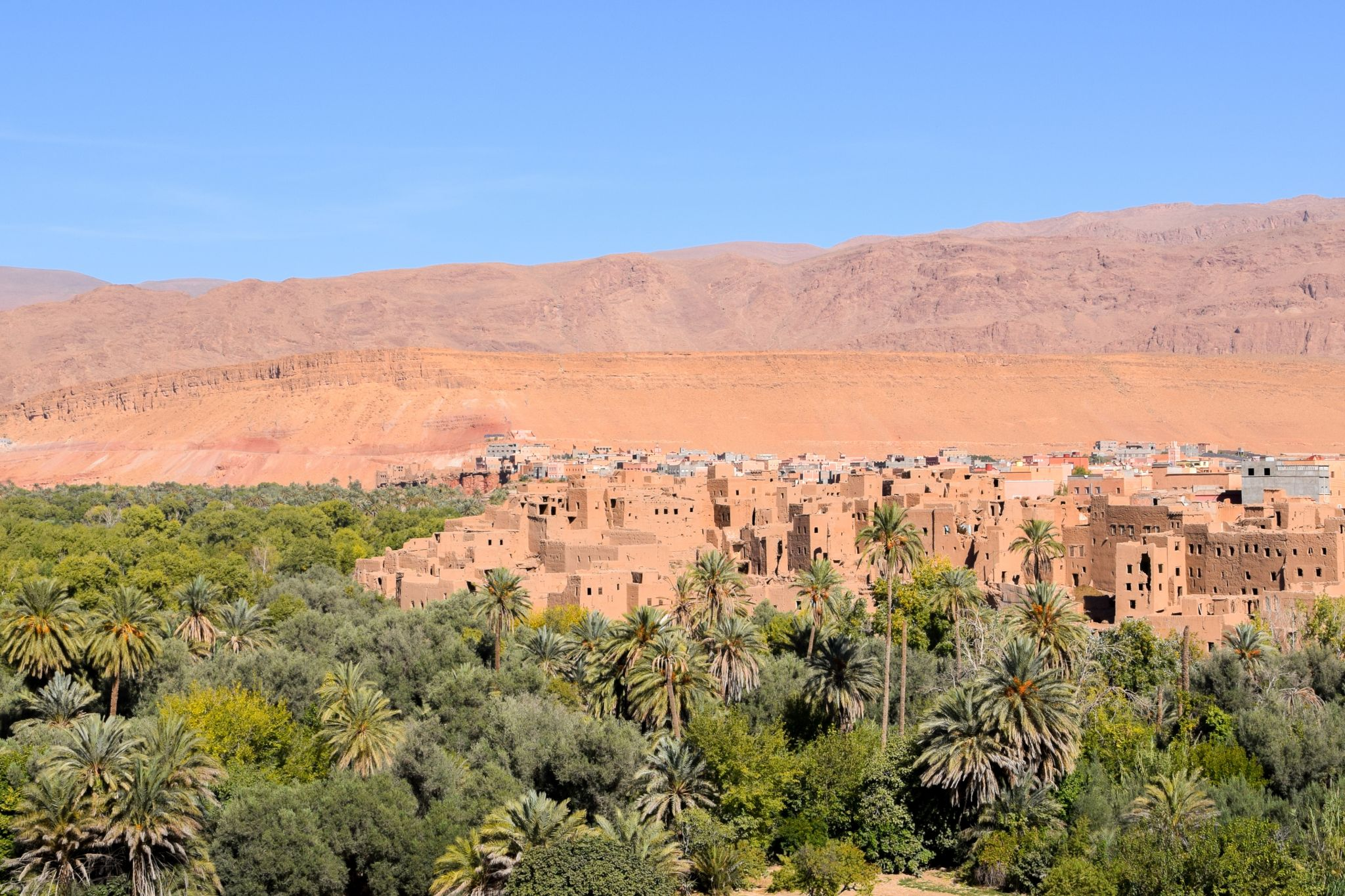 Tinghir palm grove, Morocco