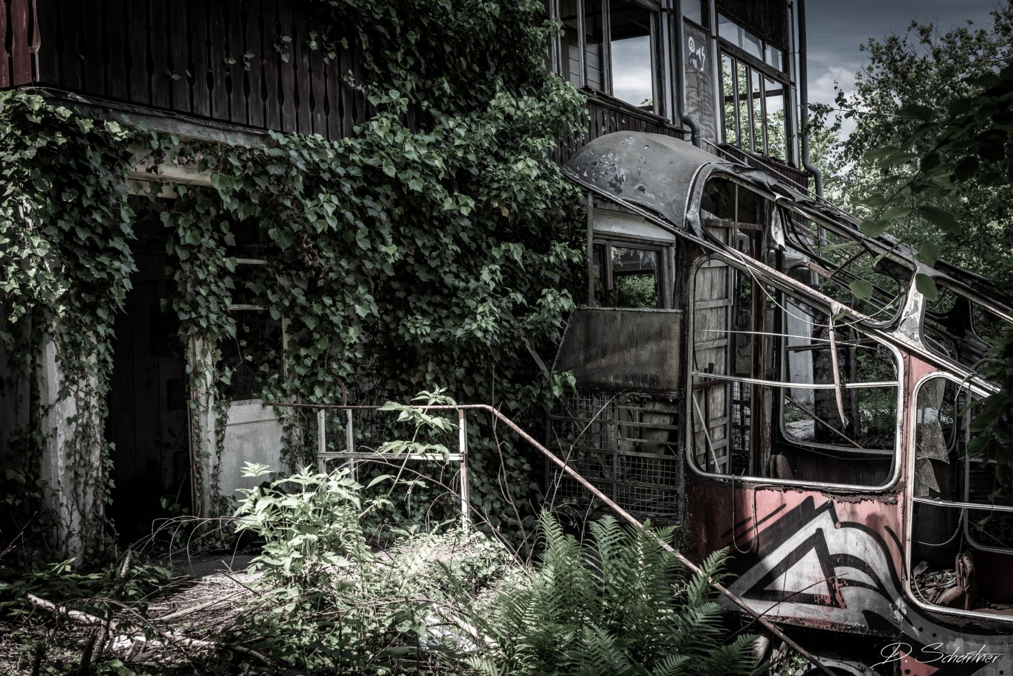 Abandoned railway hill station, Germany