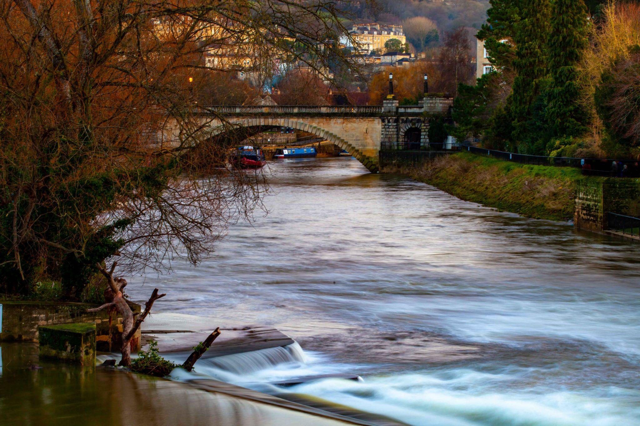 Cleveland Bridge, Avon River, Bath, England, United Kingdom