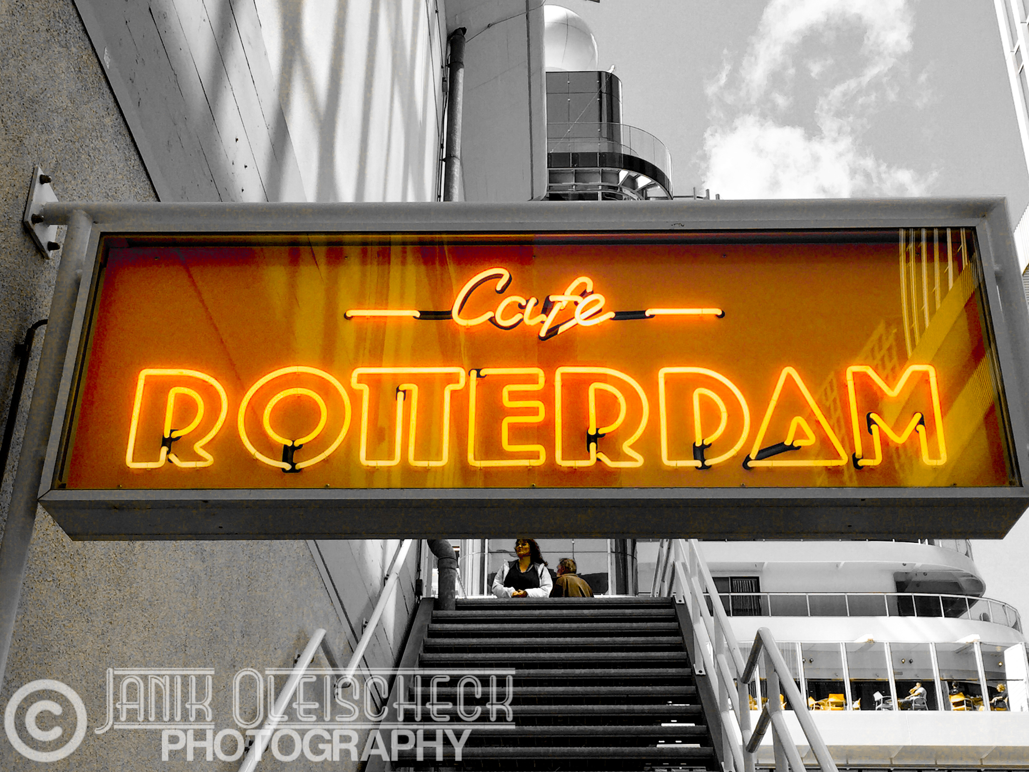 Coffeehouse sign in Rotterdam, Netherlands