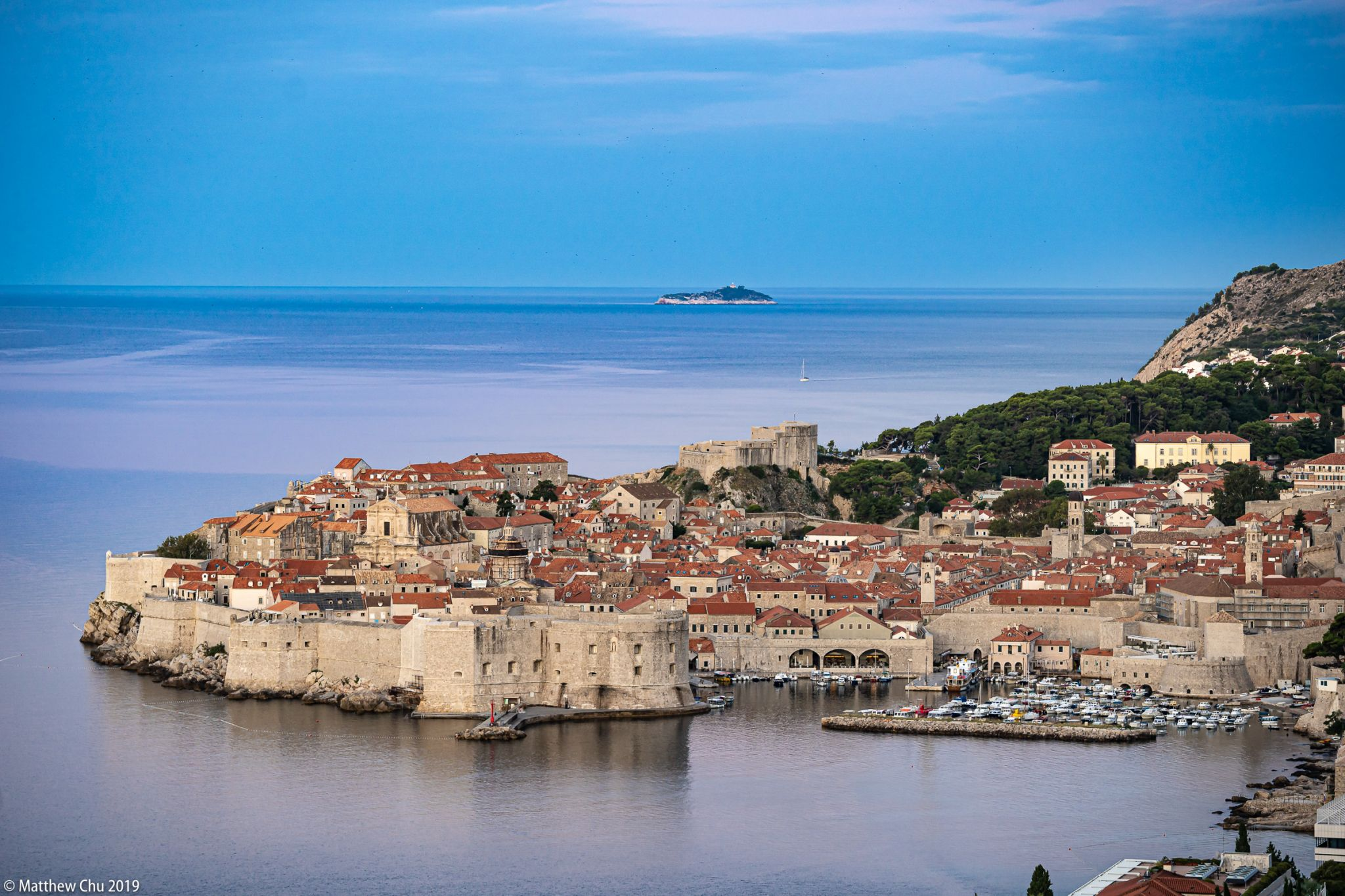 Dubrovnik Old Town from a distance, Croatia