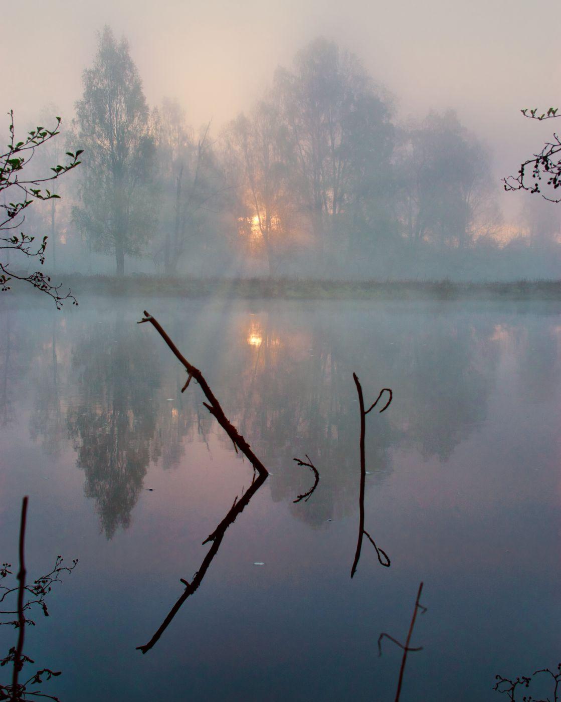 fog over the river, Sweden