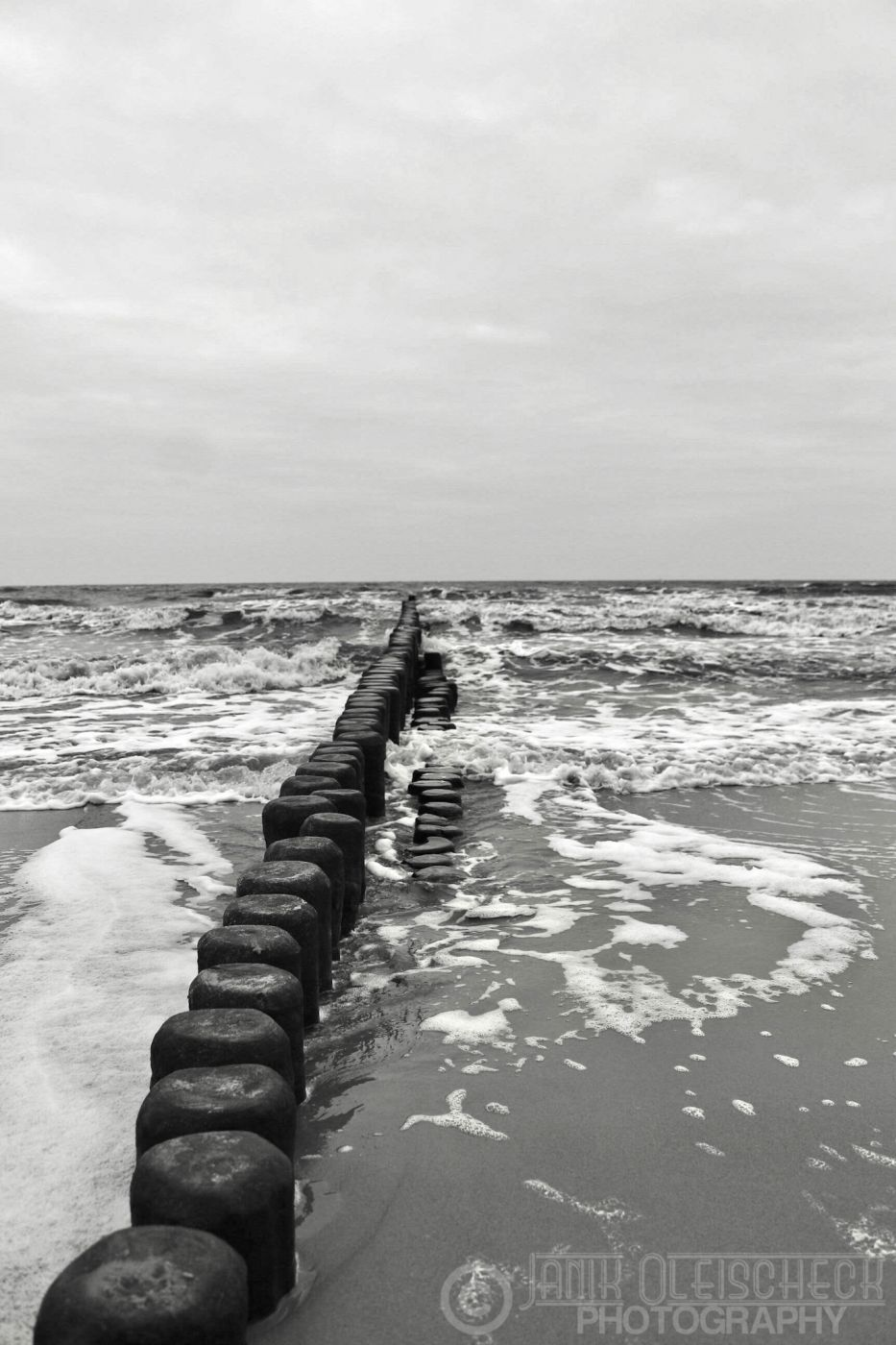 Groyne in the Baltic Sea, Germany