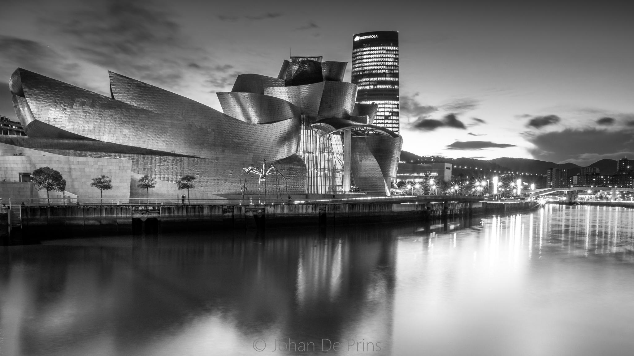 Guggenheim opposite river, Spain