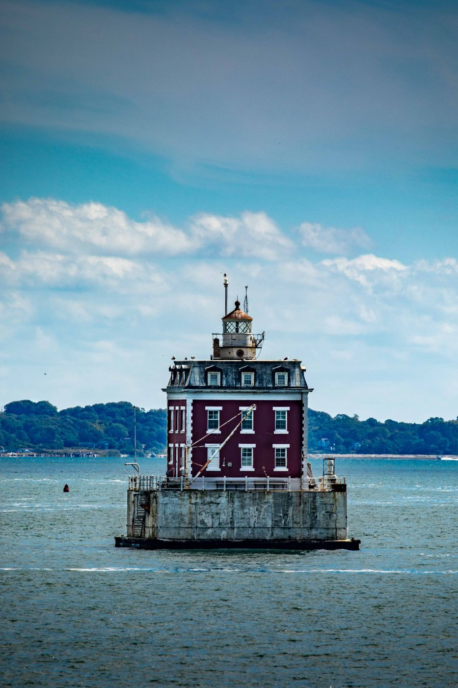 Ledge Lighthouse in New London, Connecticut, USA