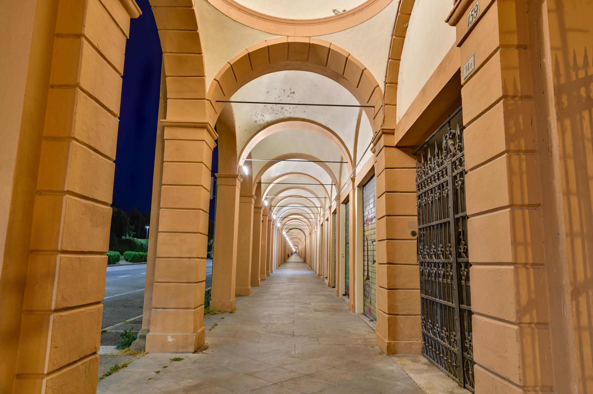 Portico della Certosa di Bologna, Italy