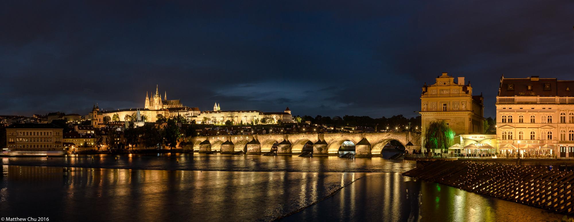 Prague Charles Bridge and Castle panorama, Prague, Czech Republic