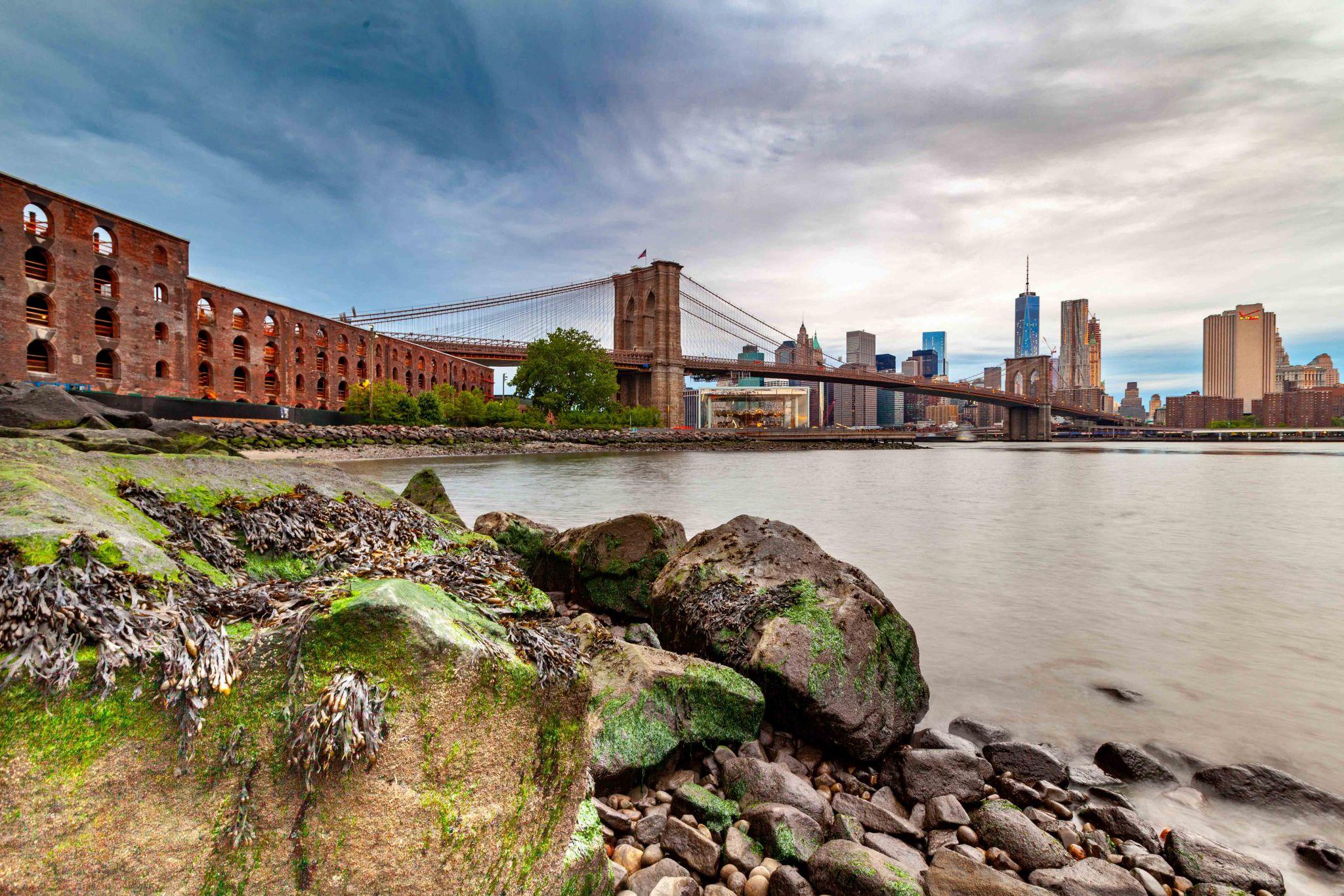 Shoreline Brooklyn Bridge Brooklyn, USA