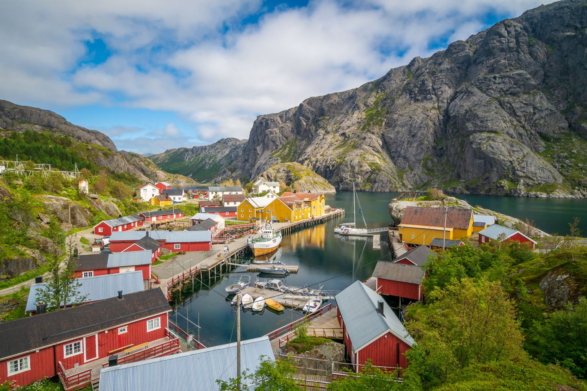 the fish village of Nusfjord, Norway