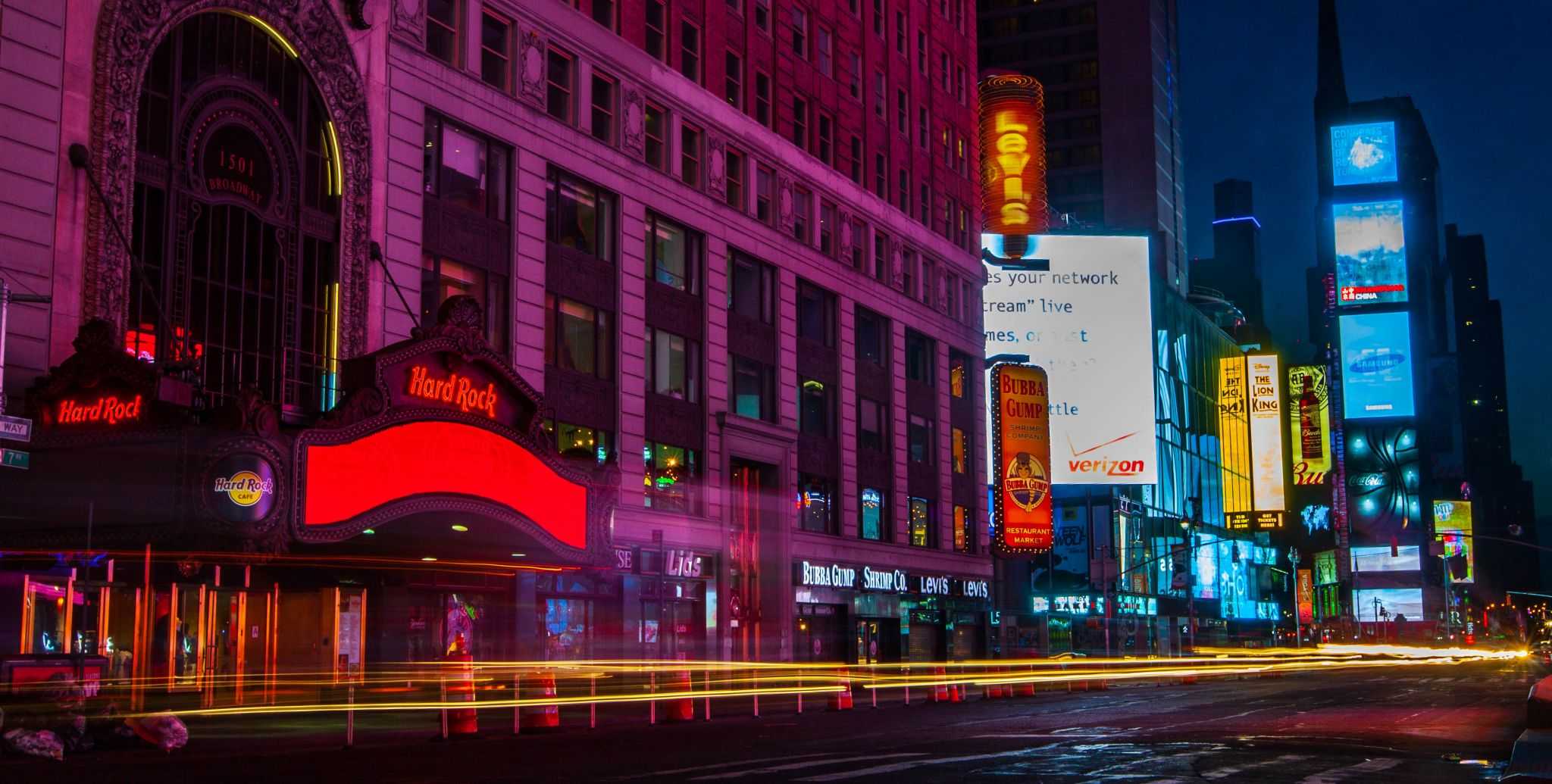 Times Square Hard Rock Cafe Bluehour NYC, USA