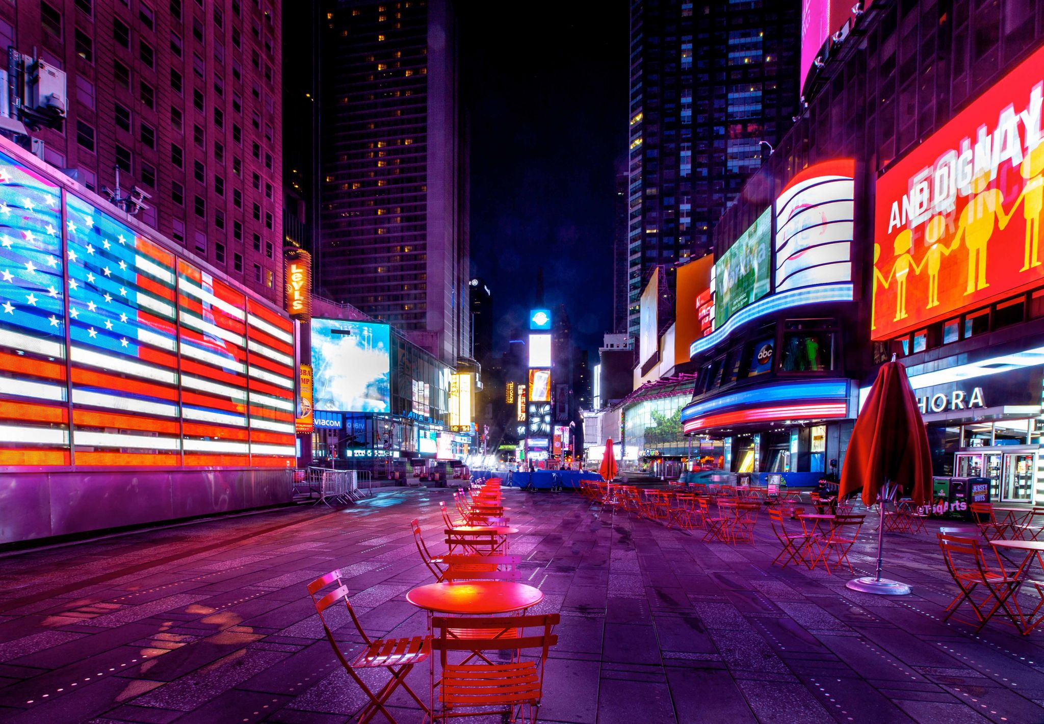 Times Square just before dawn NY, USA