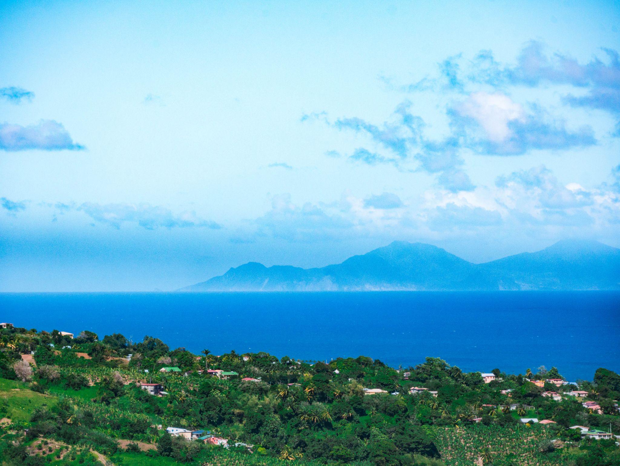 View of Dominica from Le Marigot, Martinique, Martinique