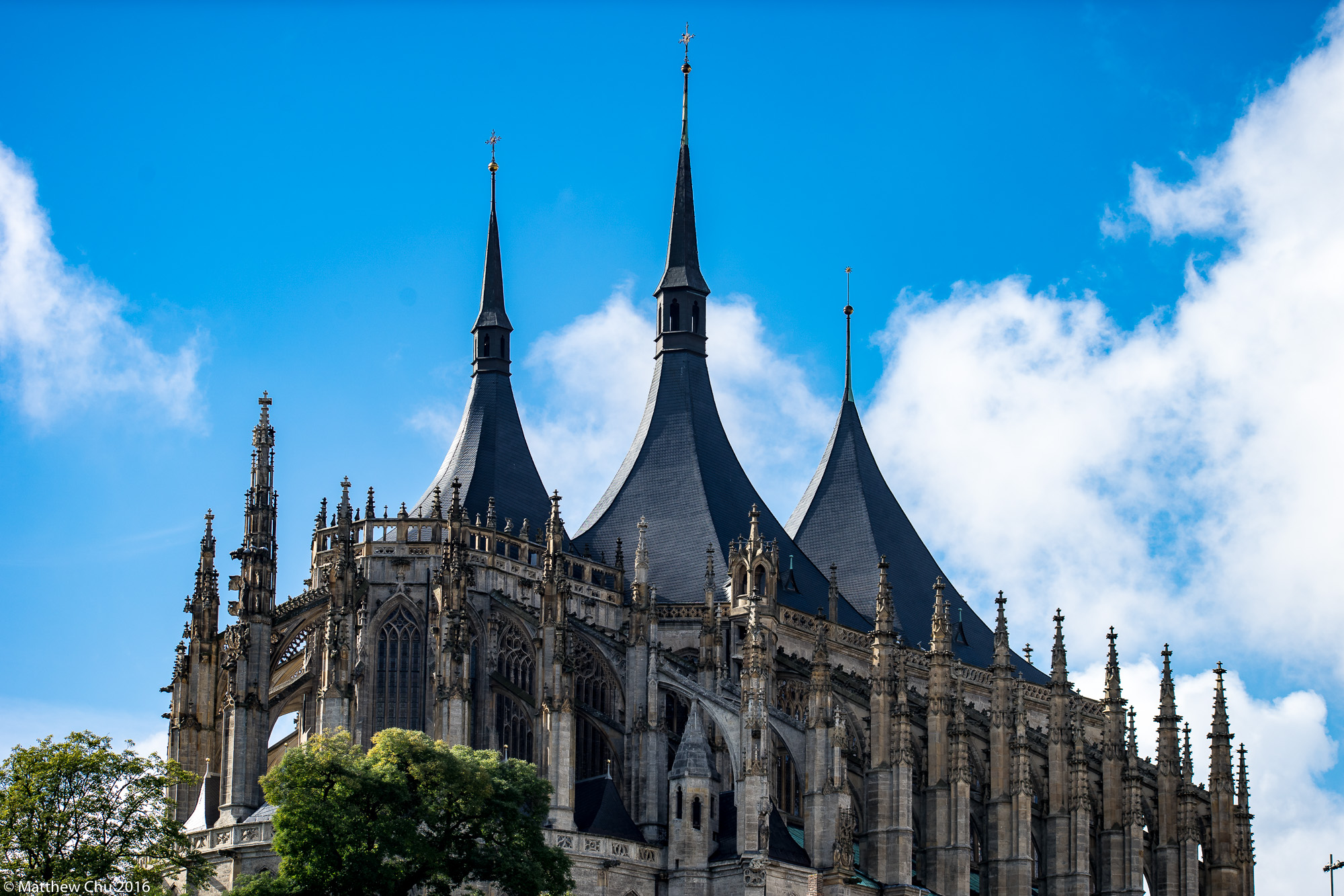 View of St Barbara's Cathedral, Kutná Hora, Czech Republic