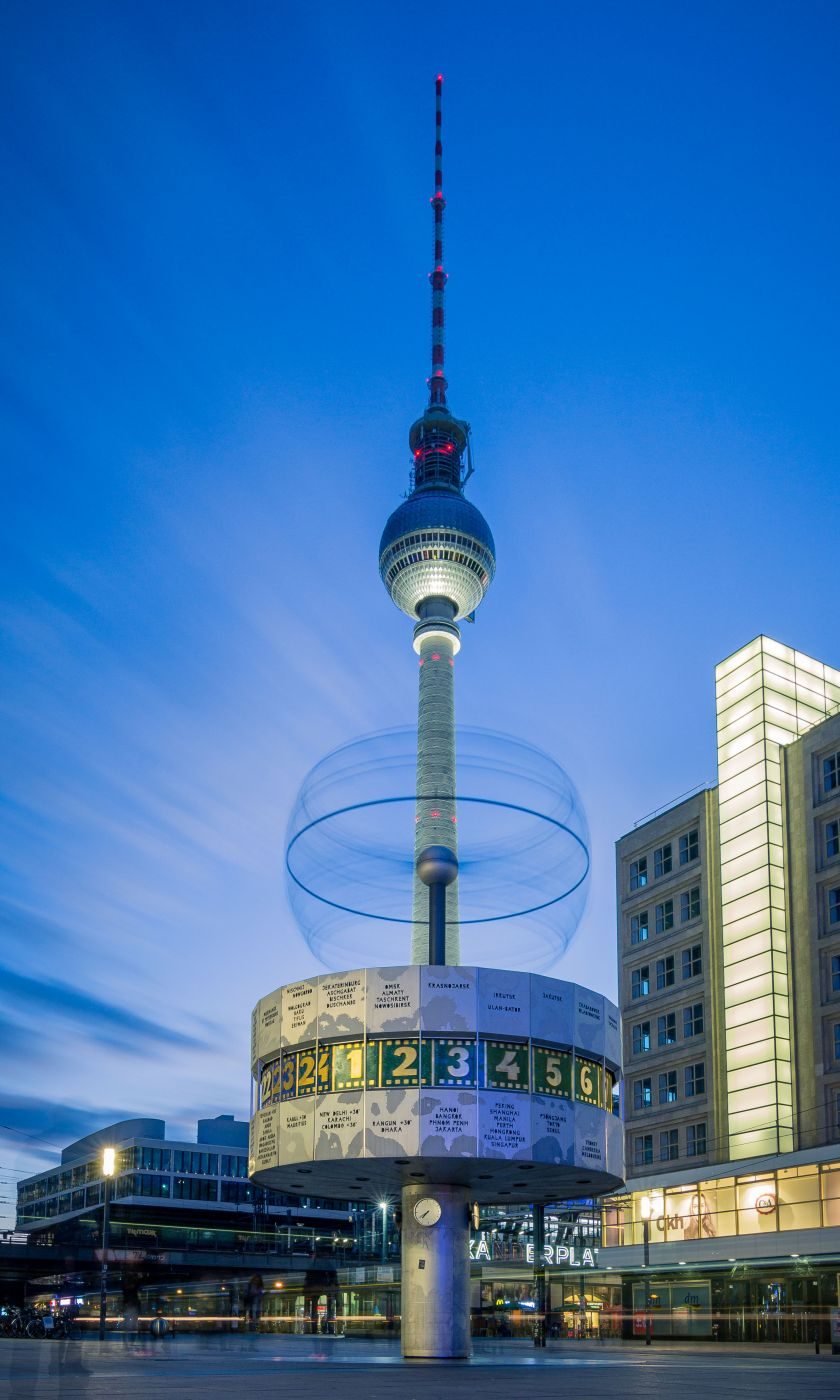 Weltzeituhr am Alexanderplatz, Germany