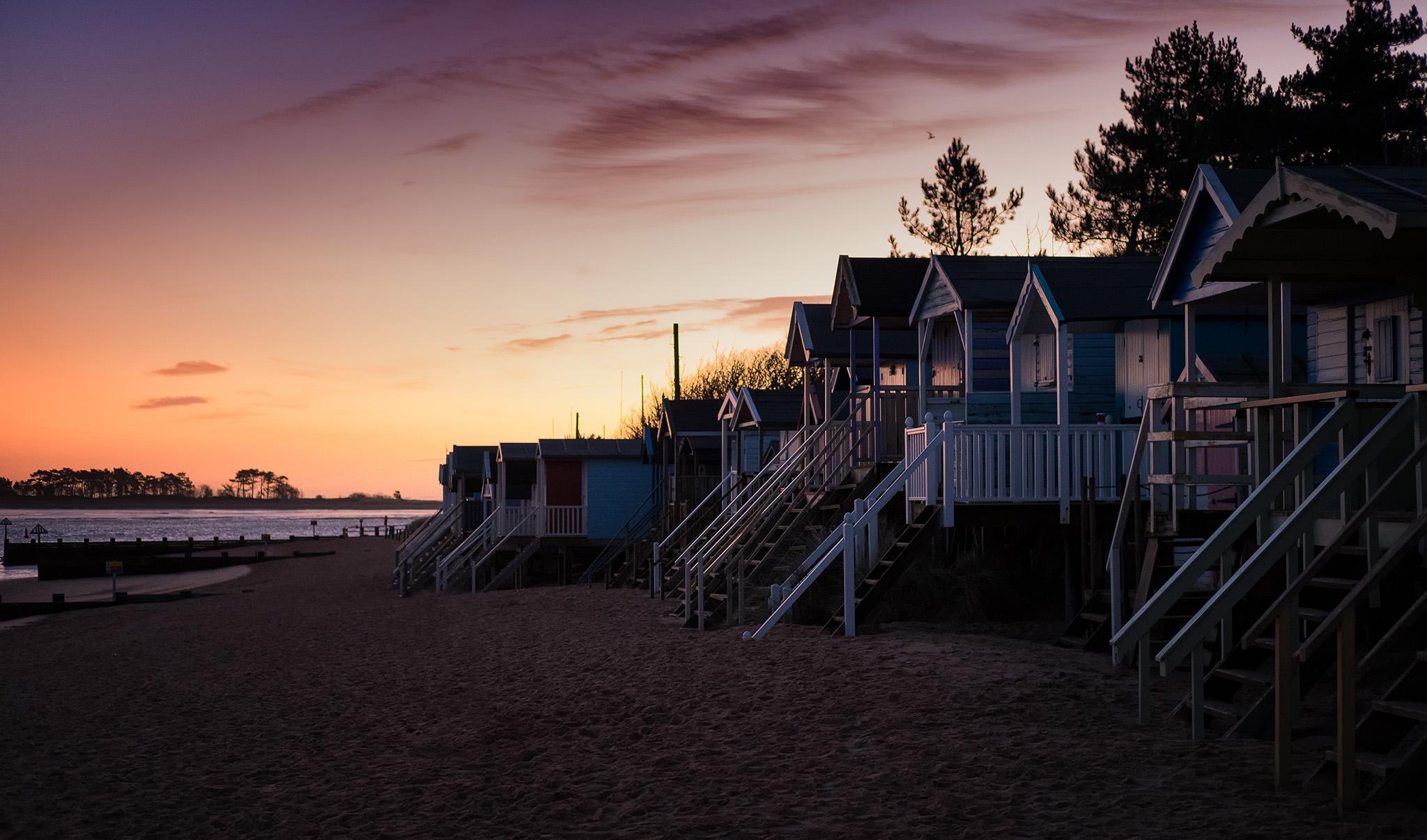 Beach Huts at Wells next the Sea, United Kingdom
