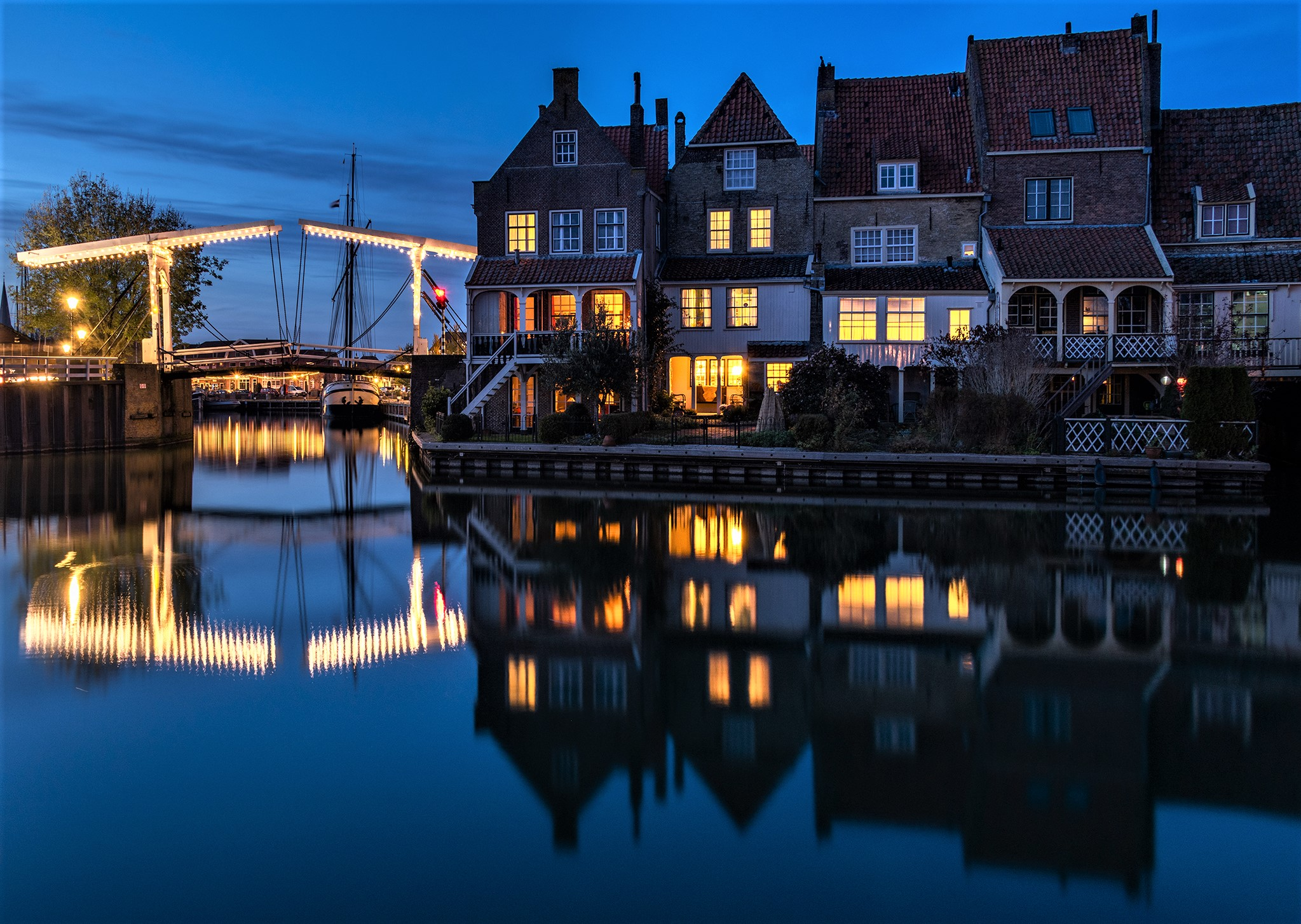 Blue hour on Enkhuize, Netherlands
