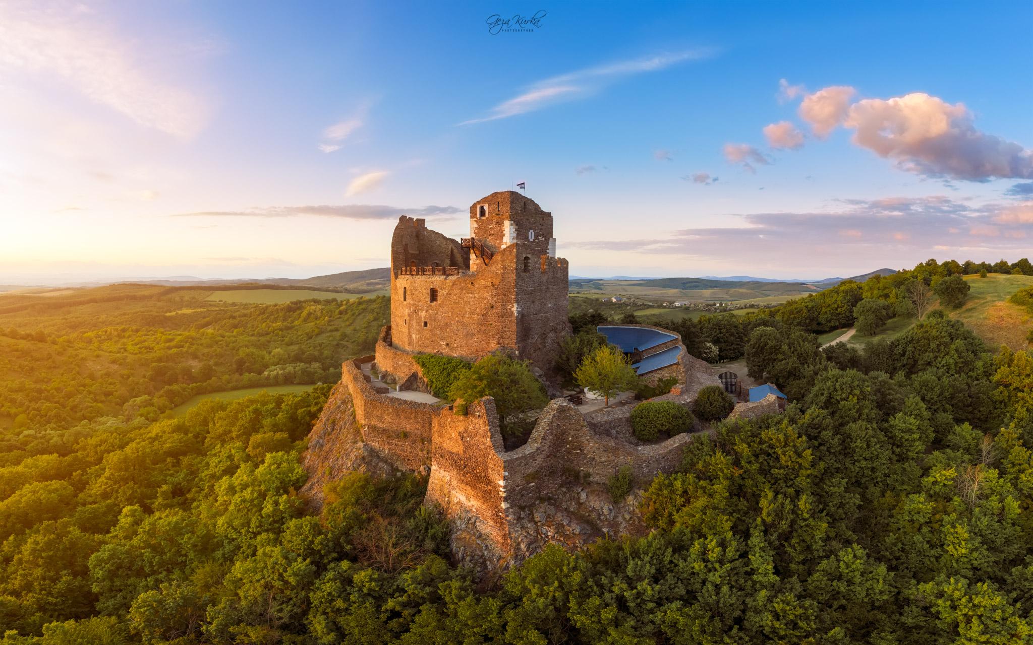 Castle ruins of Holloko, Hungary., Hungary