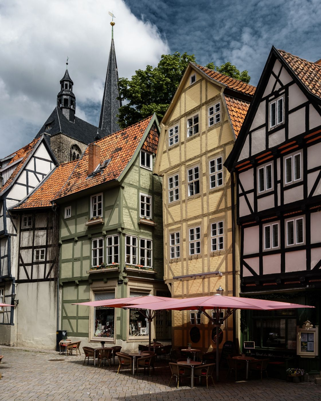 Half Timbered Houses in Quedlinburg, Germany
