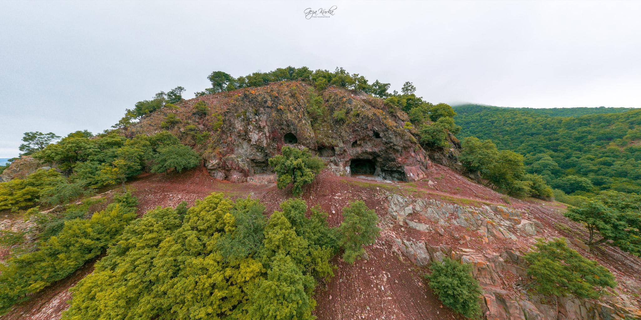 Hermit caves in Danube bend, Hungary
