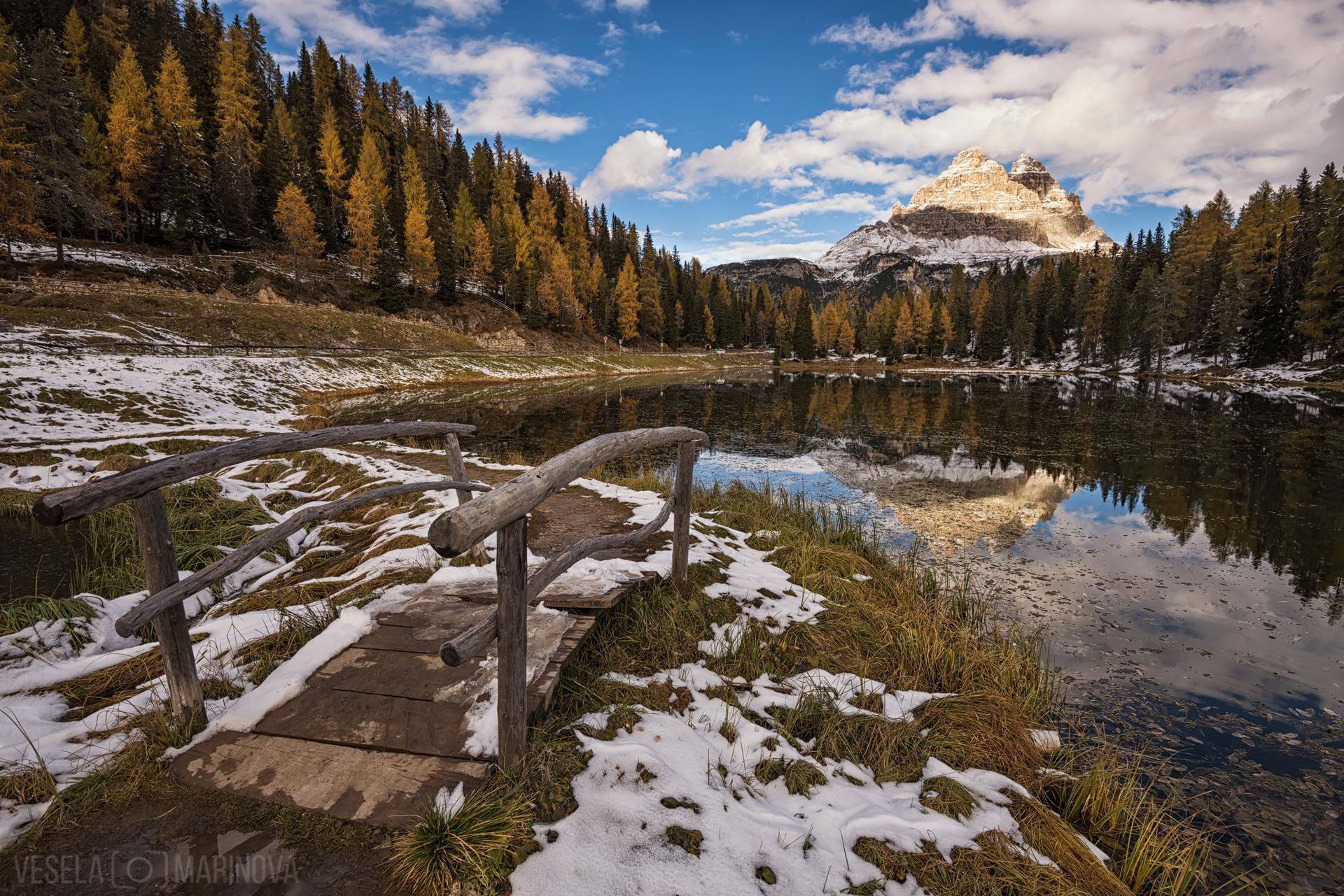 Lago d'Antorno in the Autumn, Italy