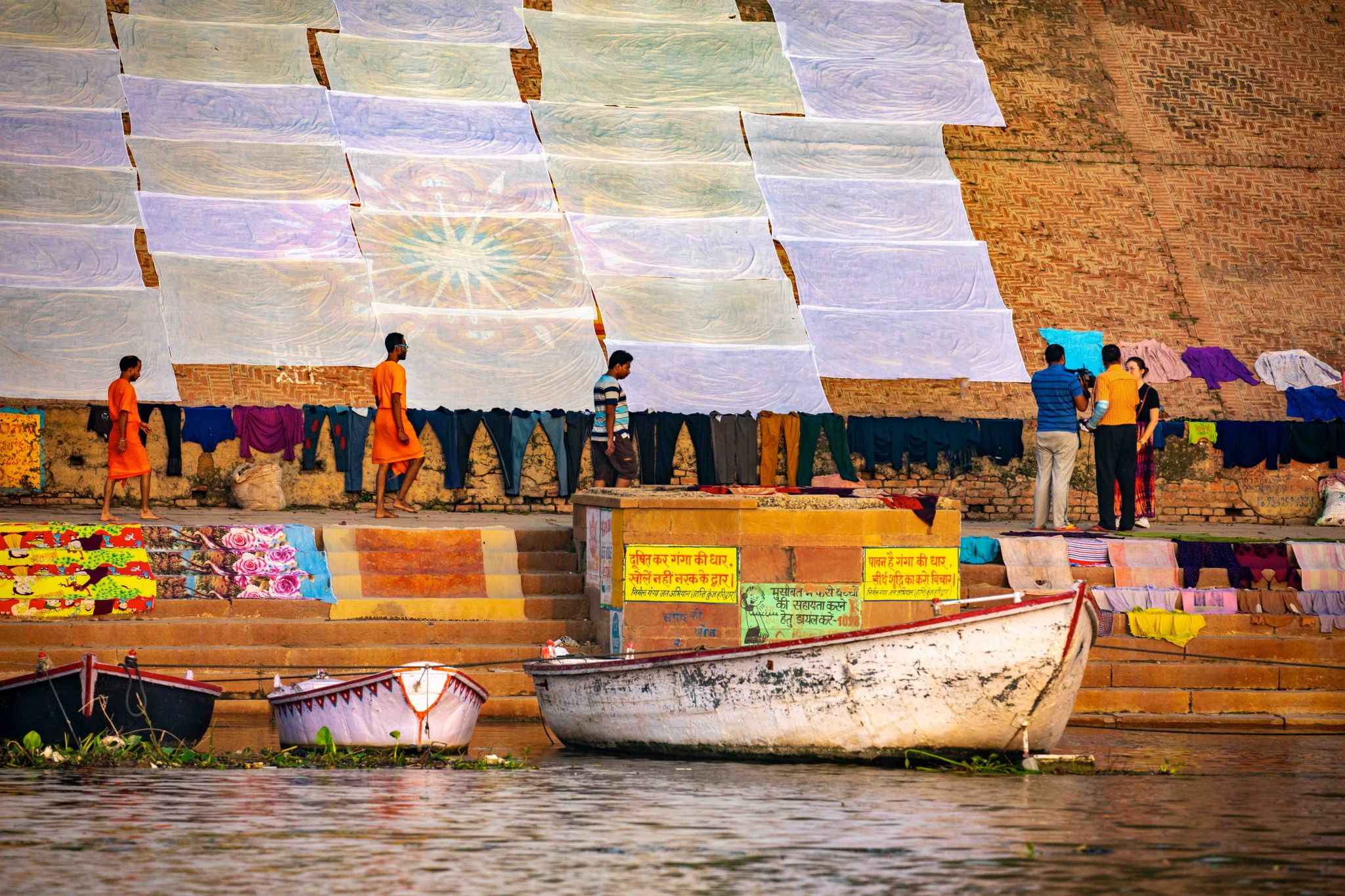 Laundry on The Ganges Varanasi, India