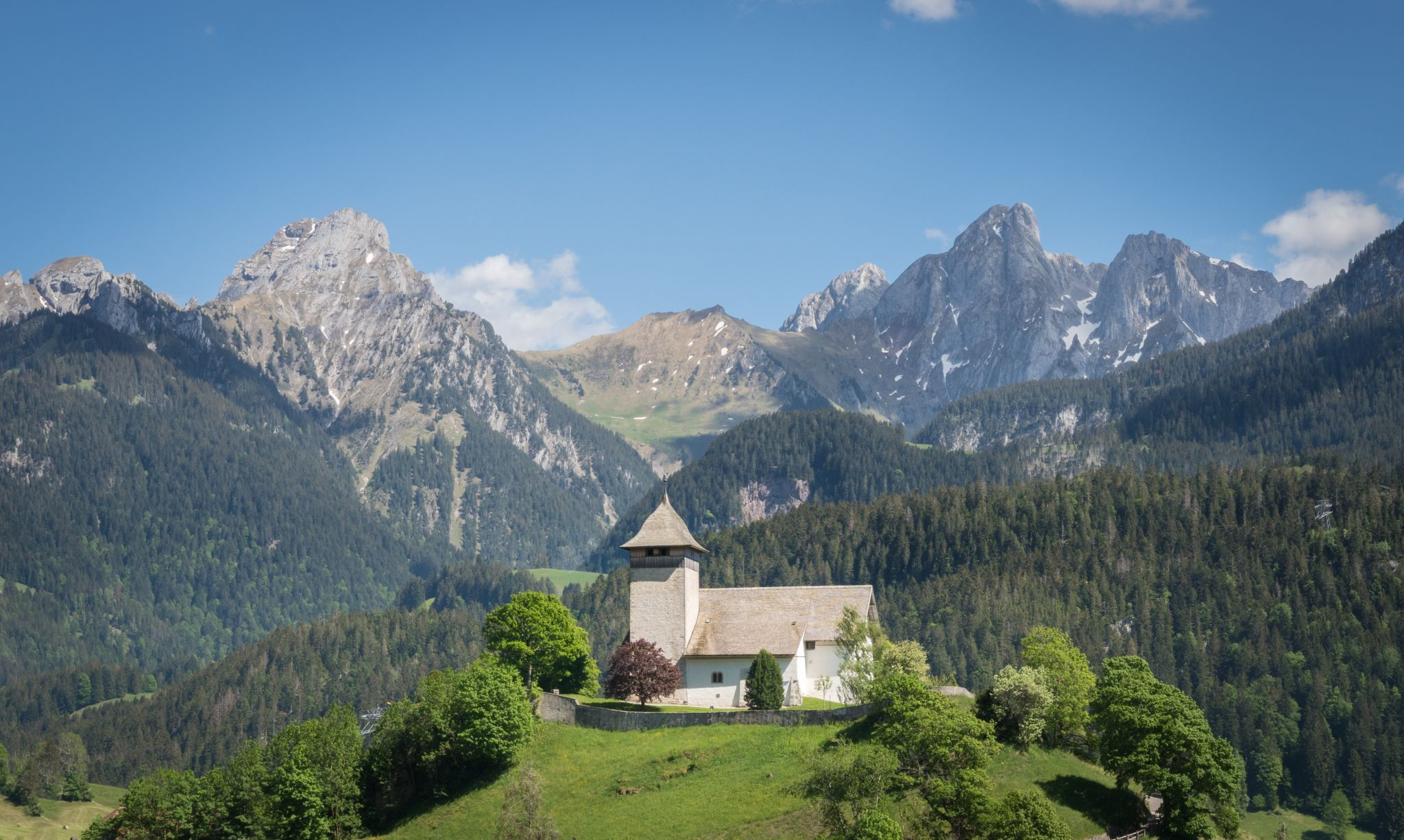 Le Temple - Chateau d'Oex church, Switzerland