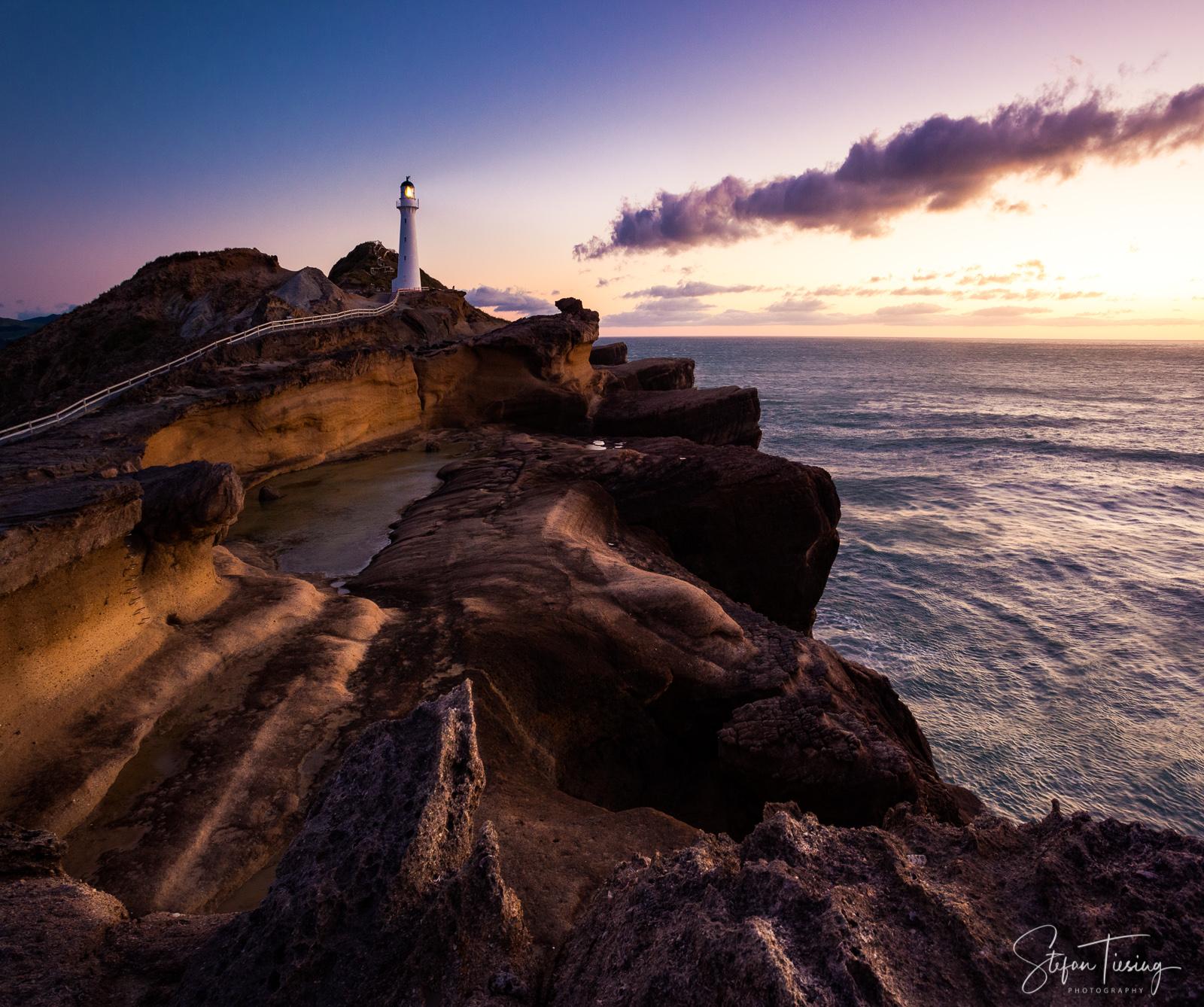 Magic Light at Castlepoint Lighthouse, New Zealand