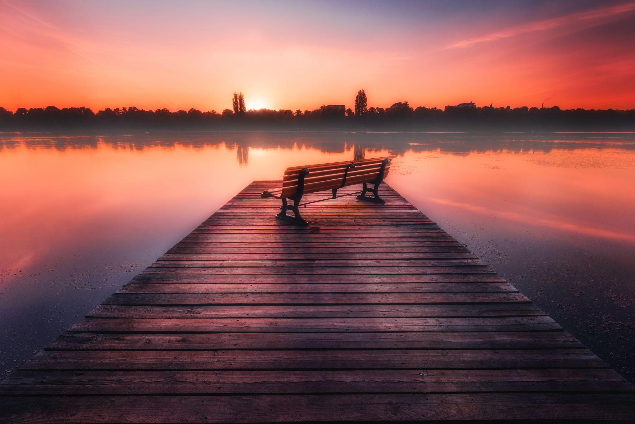Maschsee Sunrise, Germany