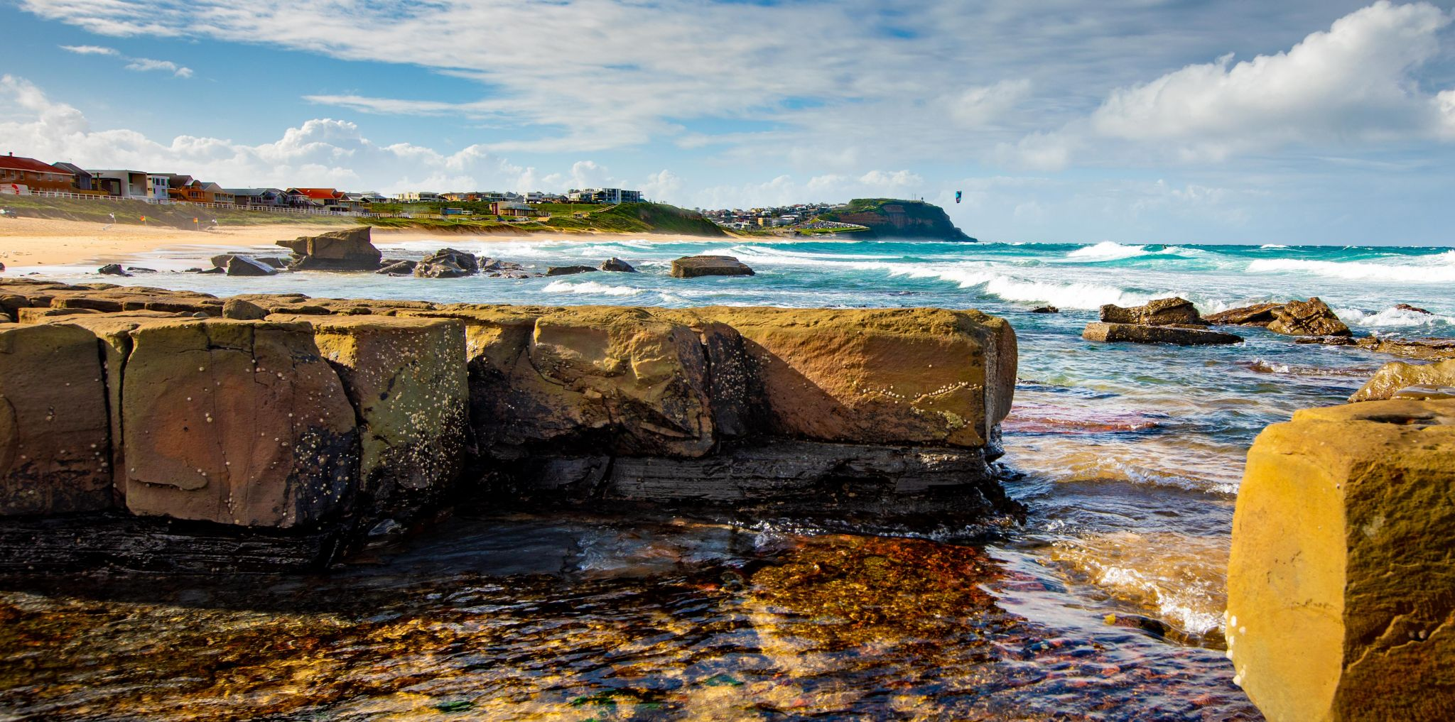 Mereweather Beach looking north, New South Wales, Australia