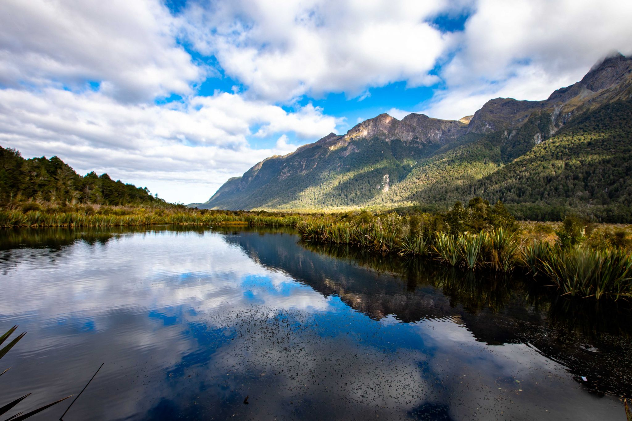 Mirror Lake, Fiordland National Park South Island, New Zealand