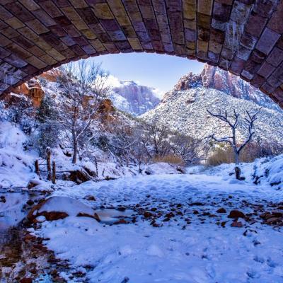 Zion national Park, Pine Creek Canyon Overlook, USA