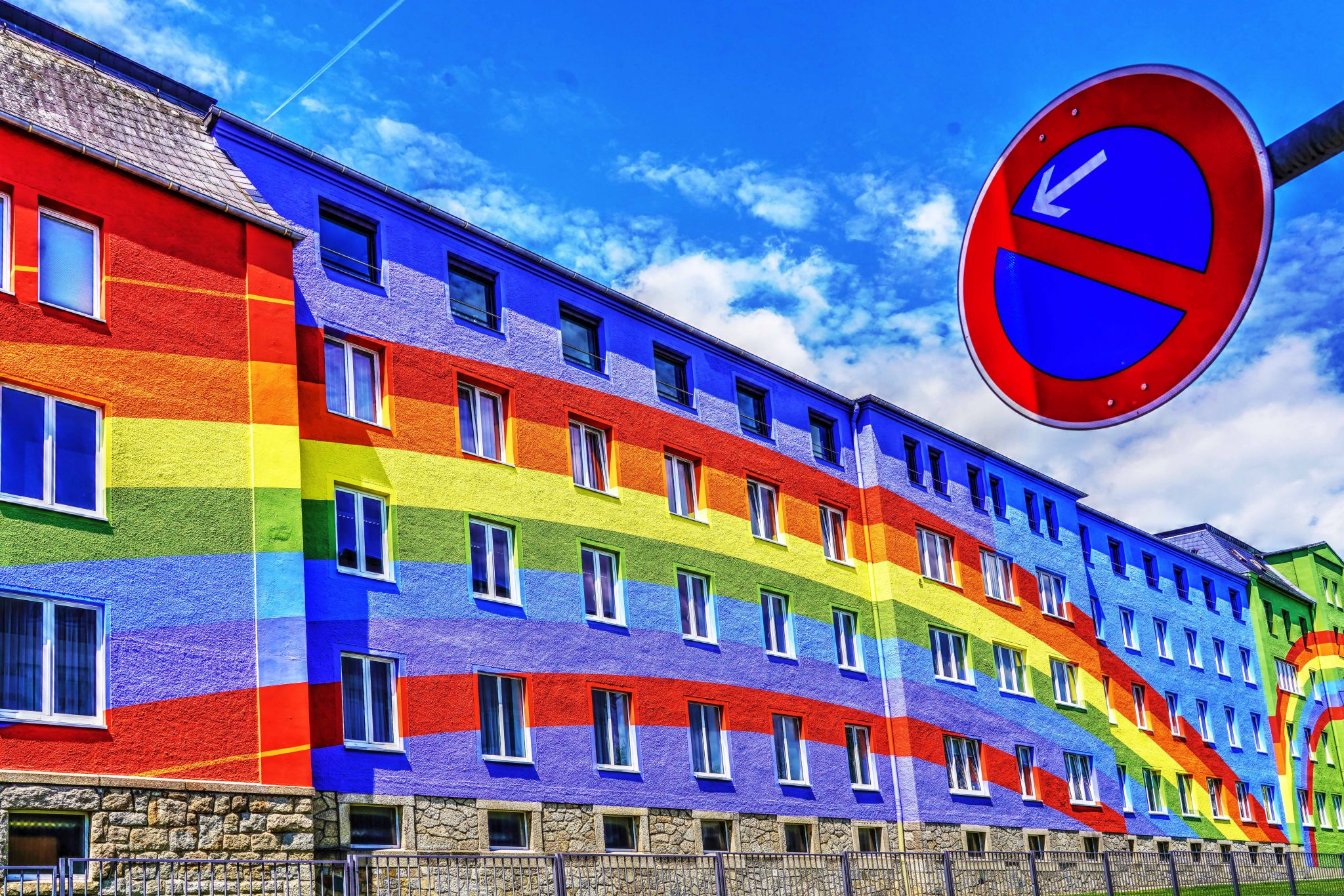 Rainbow House in Selb (Bavaria, Germany), Germany