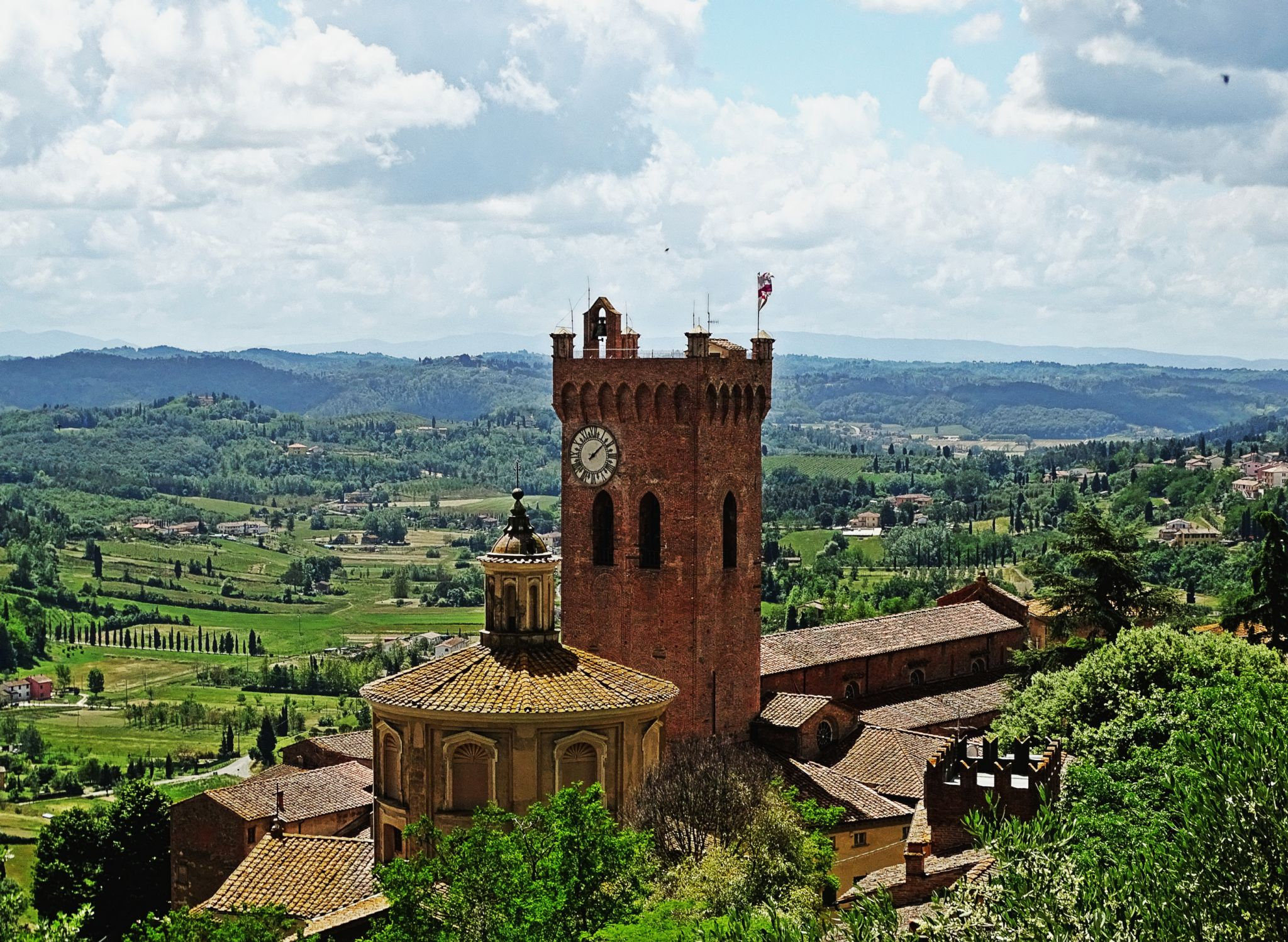 San Miniato Cathedral from Federico II Tower, Italy