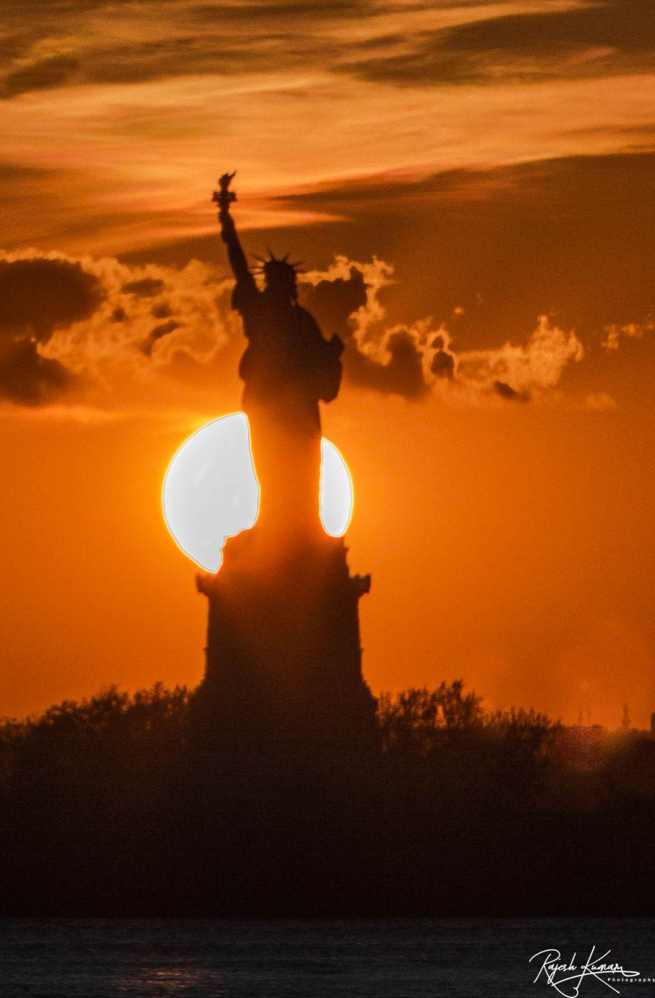 Statue of Liberty Sunset, USA