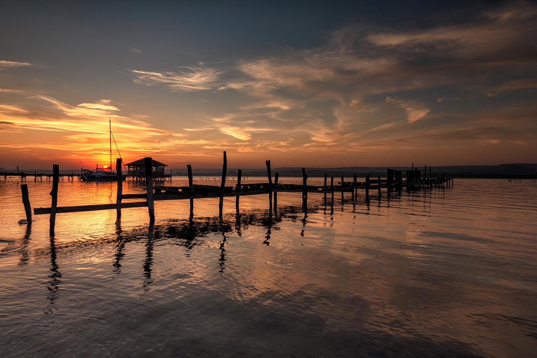 Sunset at Varna's lake, Bulgaria