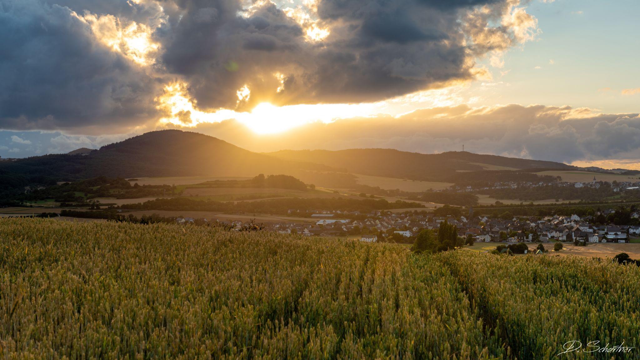 Sunset in Thür, Germany