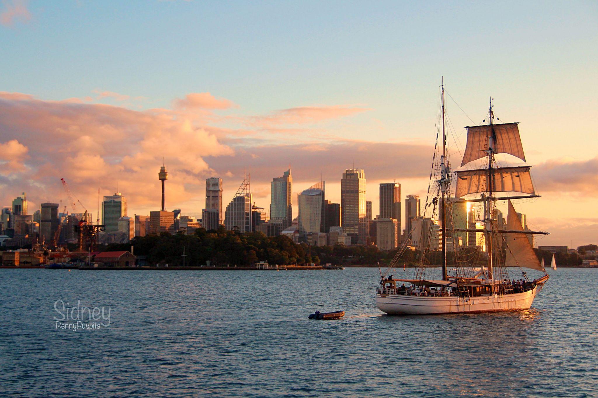 Sunset on Sydney, Australia, Australia