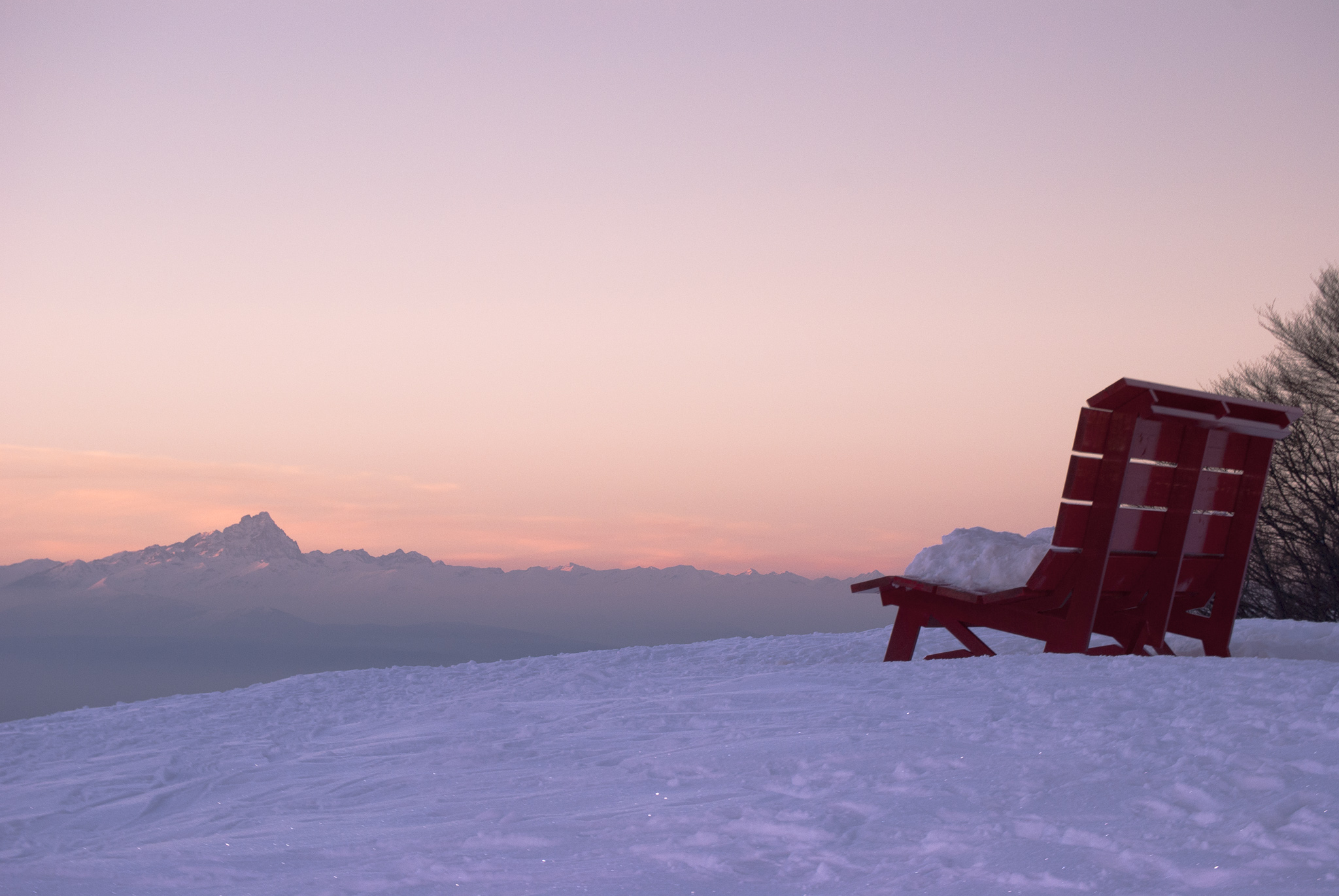 The Big Bench and the Mount Viso, Italy