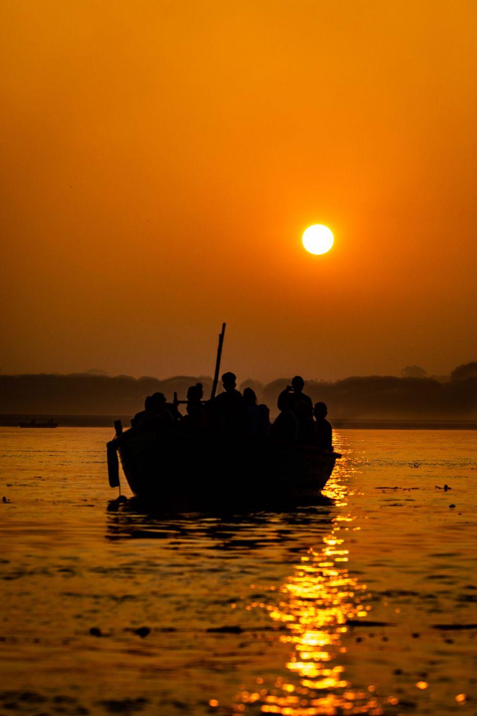 The Ganges sunrise Varanasi, India