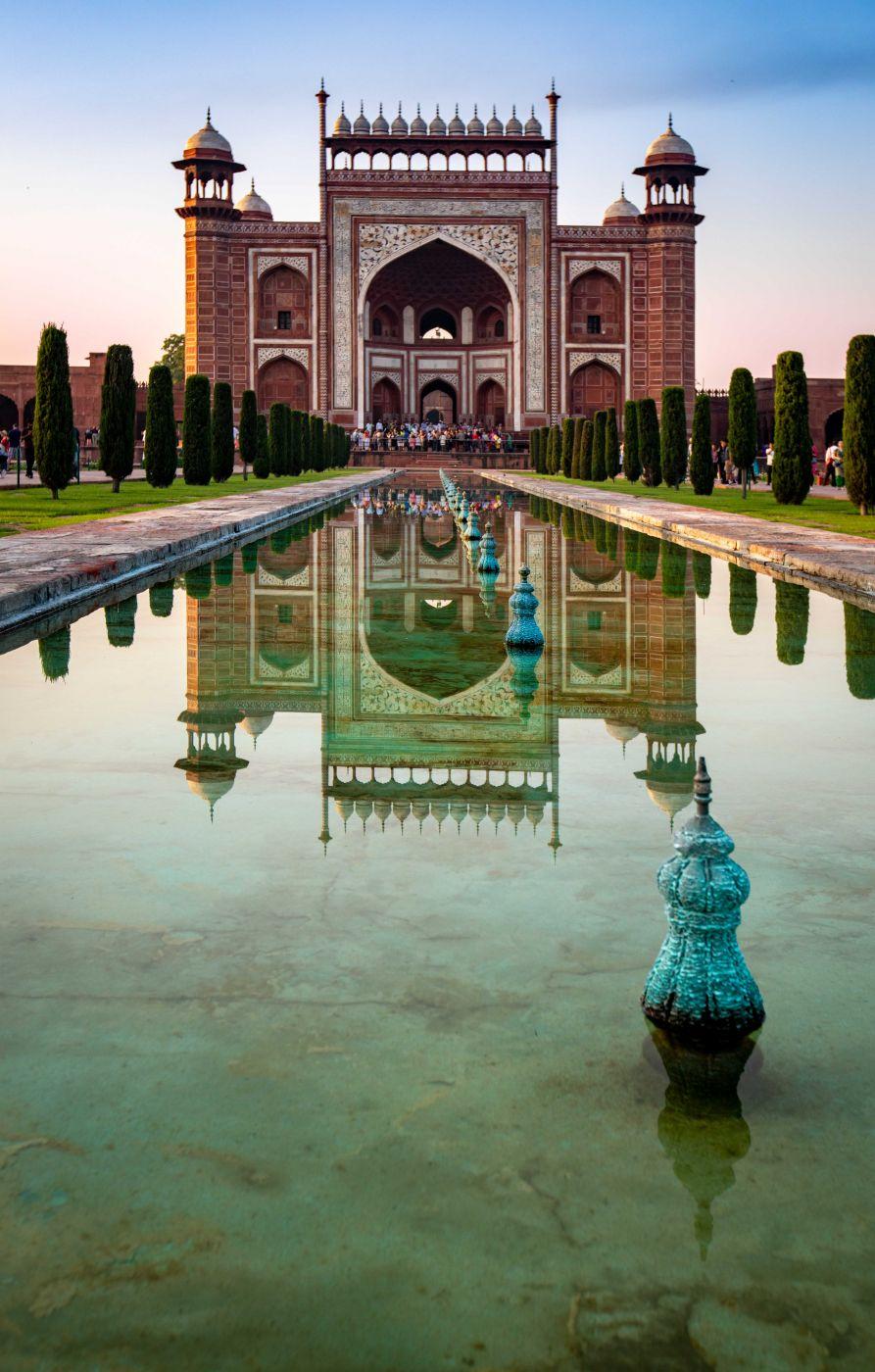 The Taj Mahal Gateway, Agra, India