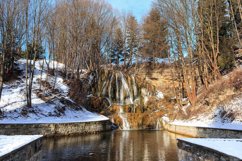 Thermal waterfall (Lucansky waterfall), Slovakia (Slovak Republic)