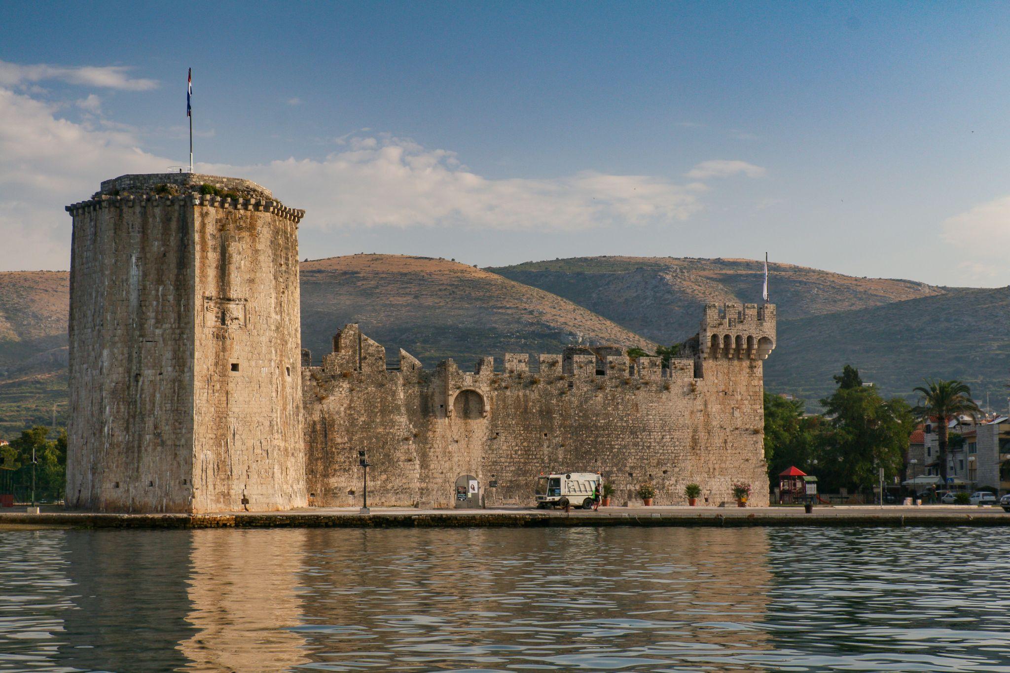 View towards Trogir Castle, Croatia