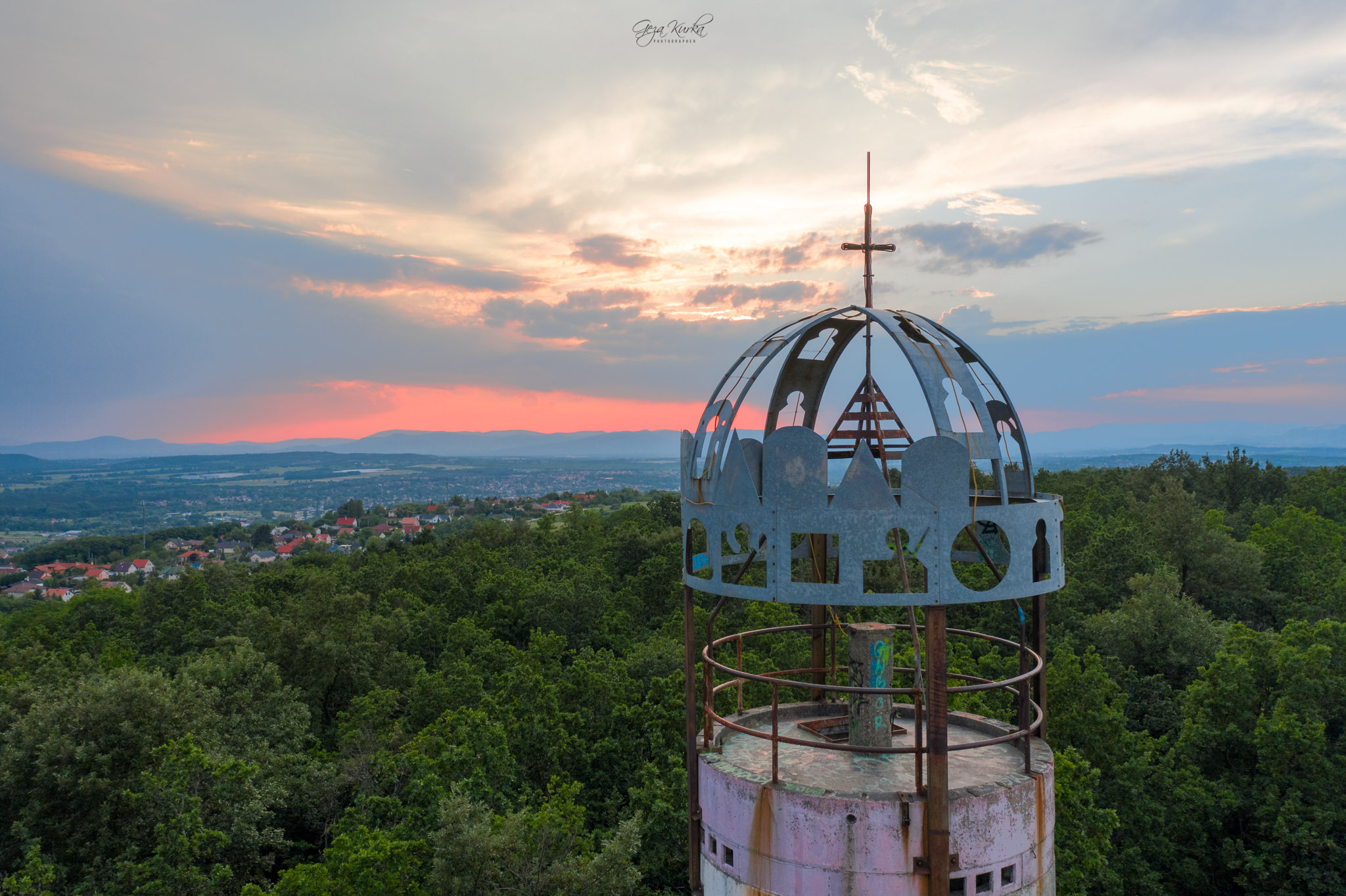 Abandoned geodetic tower, Hungary