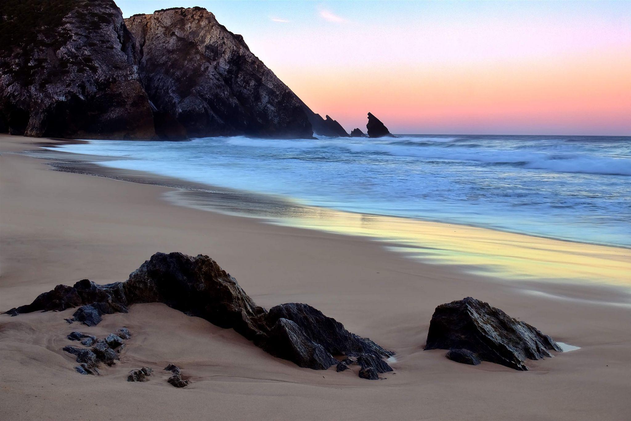Beach in Sintra, Portugal, Portugal