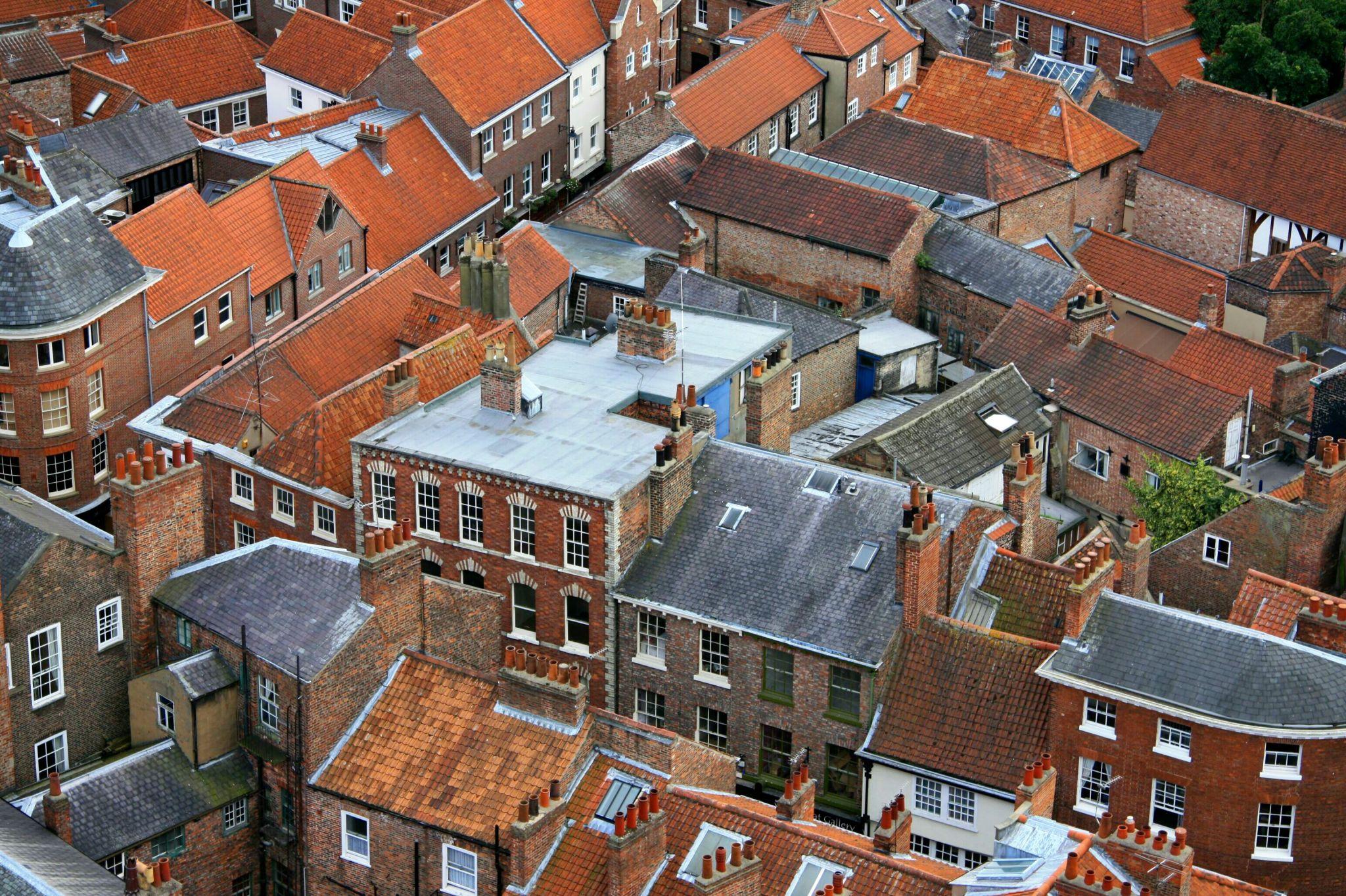 Blick vom York Minster auf die Altstadt, United Kingdom